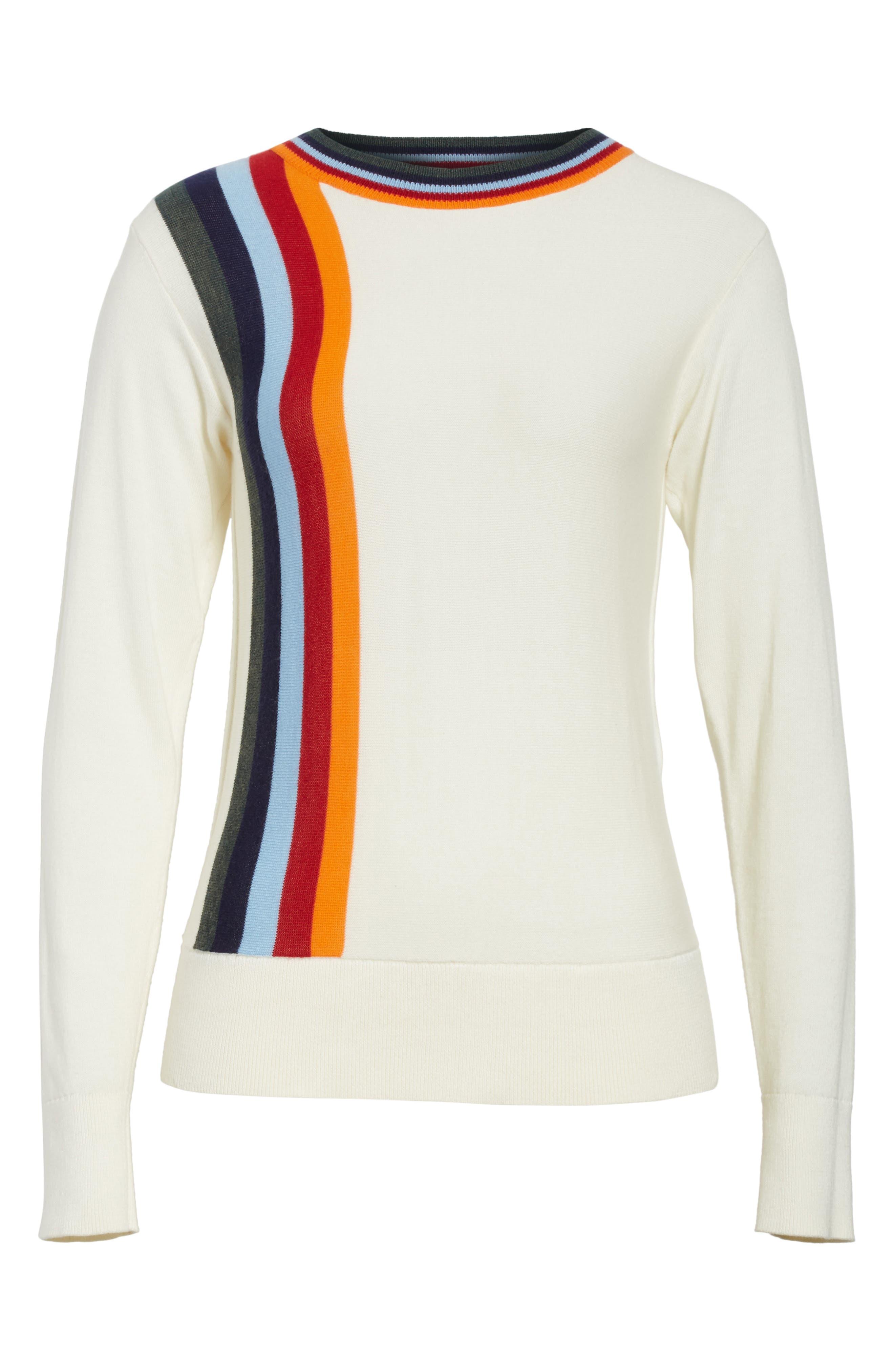 Nell Stripe Cotton Blend Sweater,                             Alternate thumbnail 6, color,