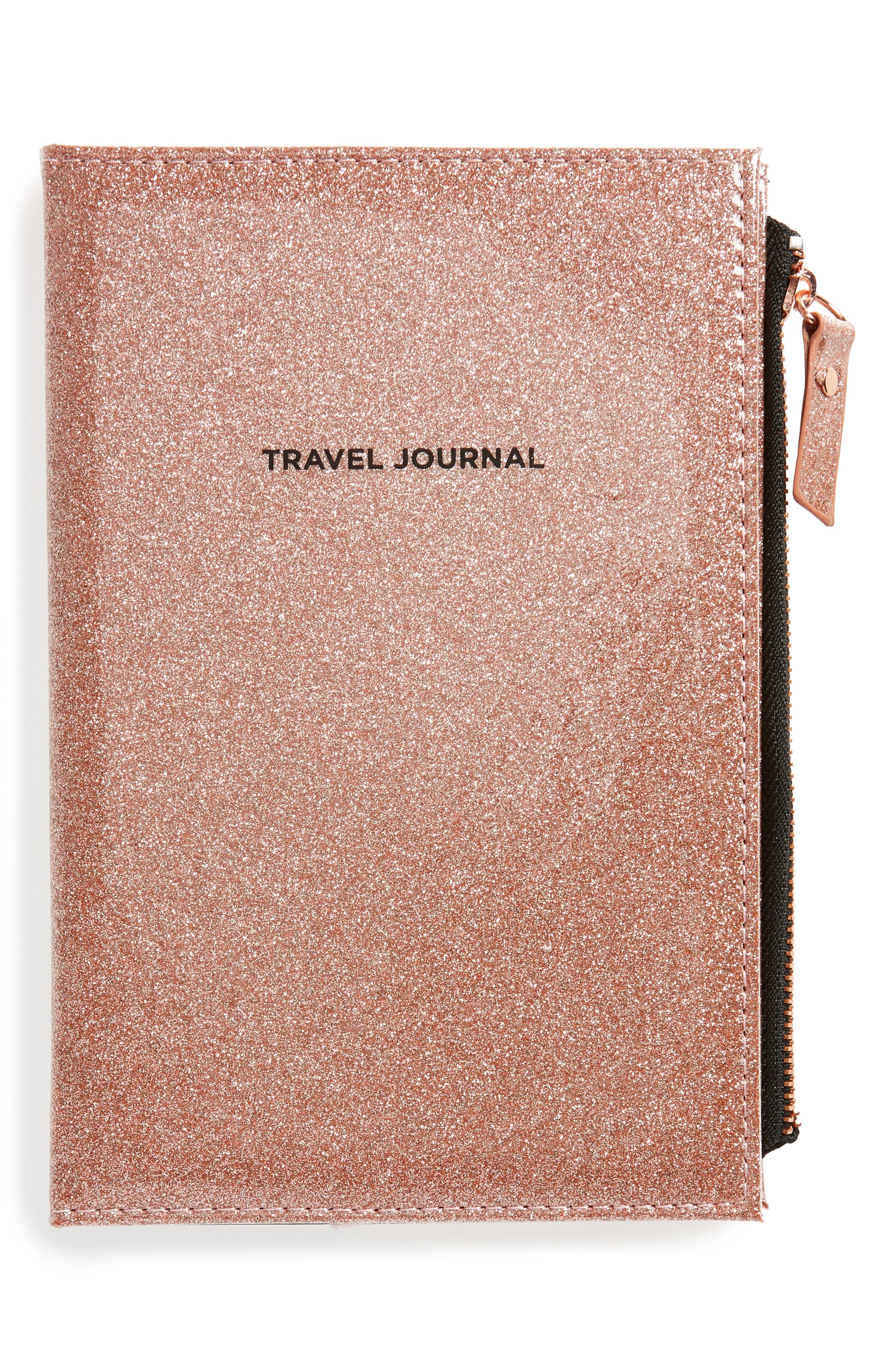 Glitter Travel Journal,                             Main thumbnail 1, color,                             650