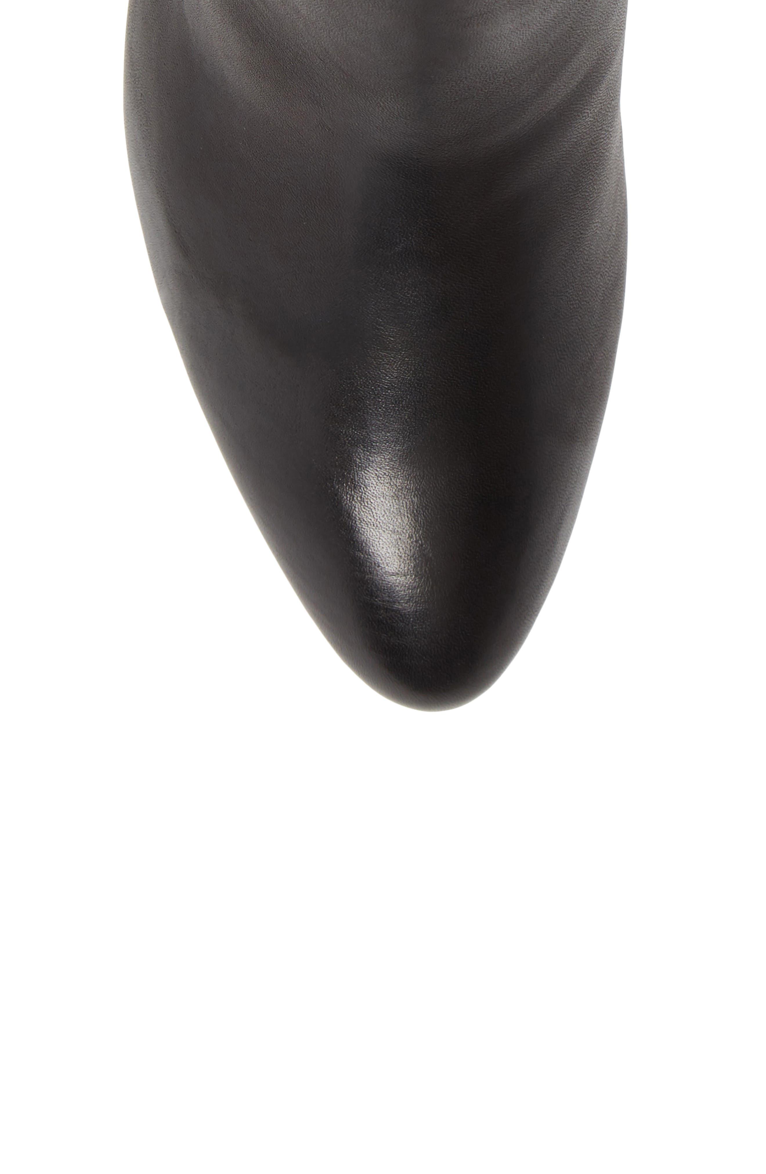Calla Blossom Bootie,                             Alternate thumbnail 5, color,                             BLACK LEATHER