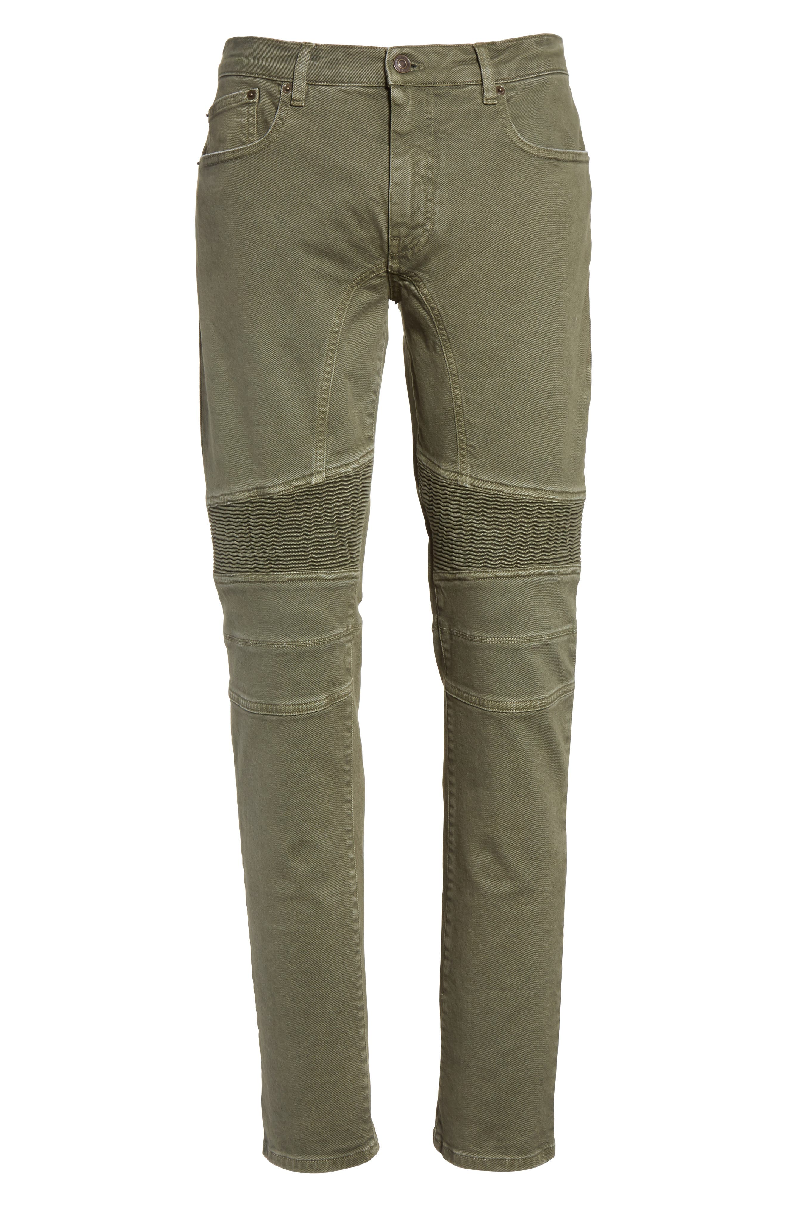 Eastham Tapered Moto Jeans,                             Alternate thumbnail 6, color,                             251