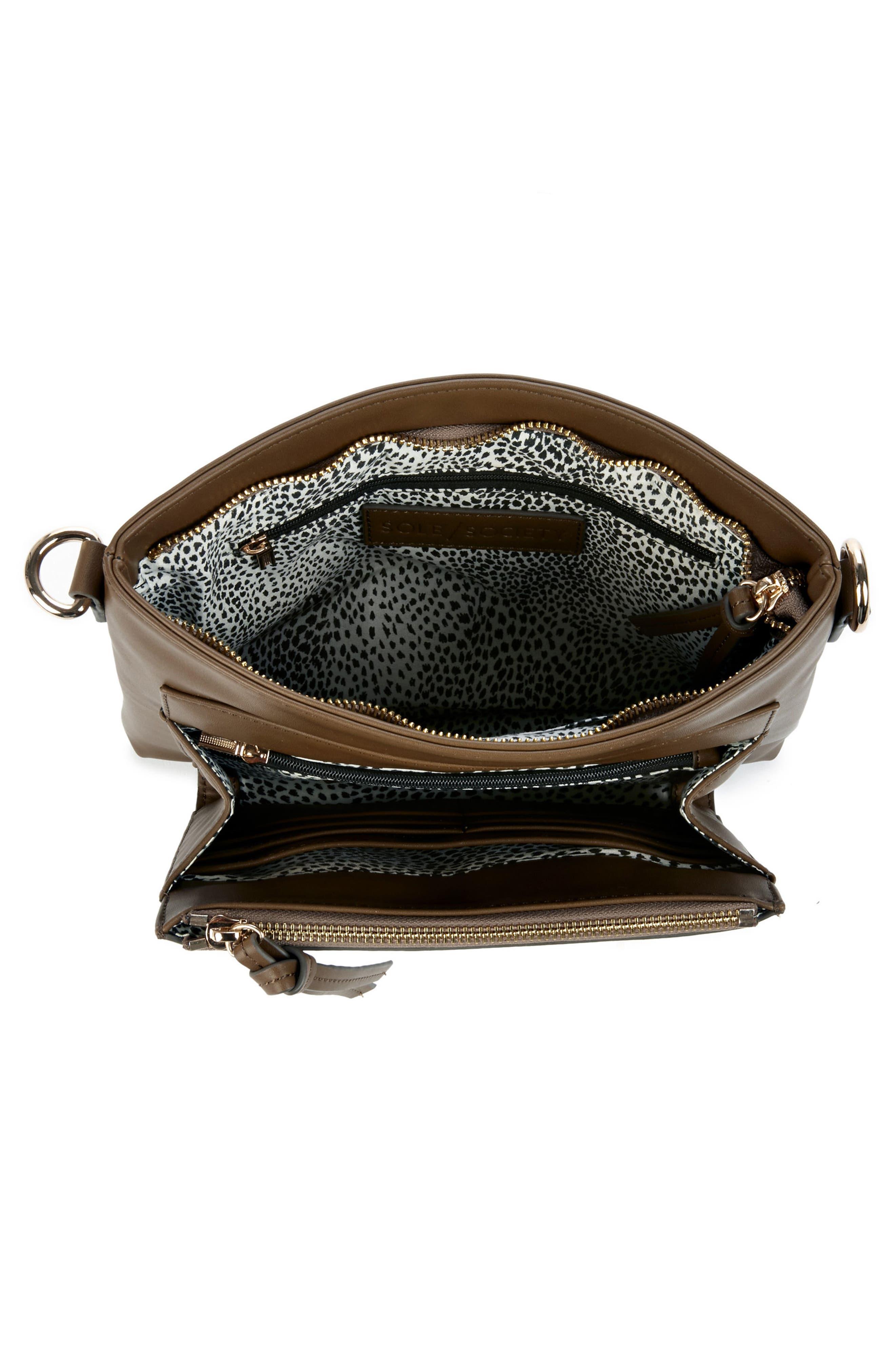Flat Faux Leather Crossbody Bag,                             Alternate thumbnail 11, color,