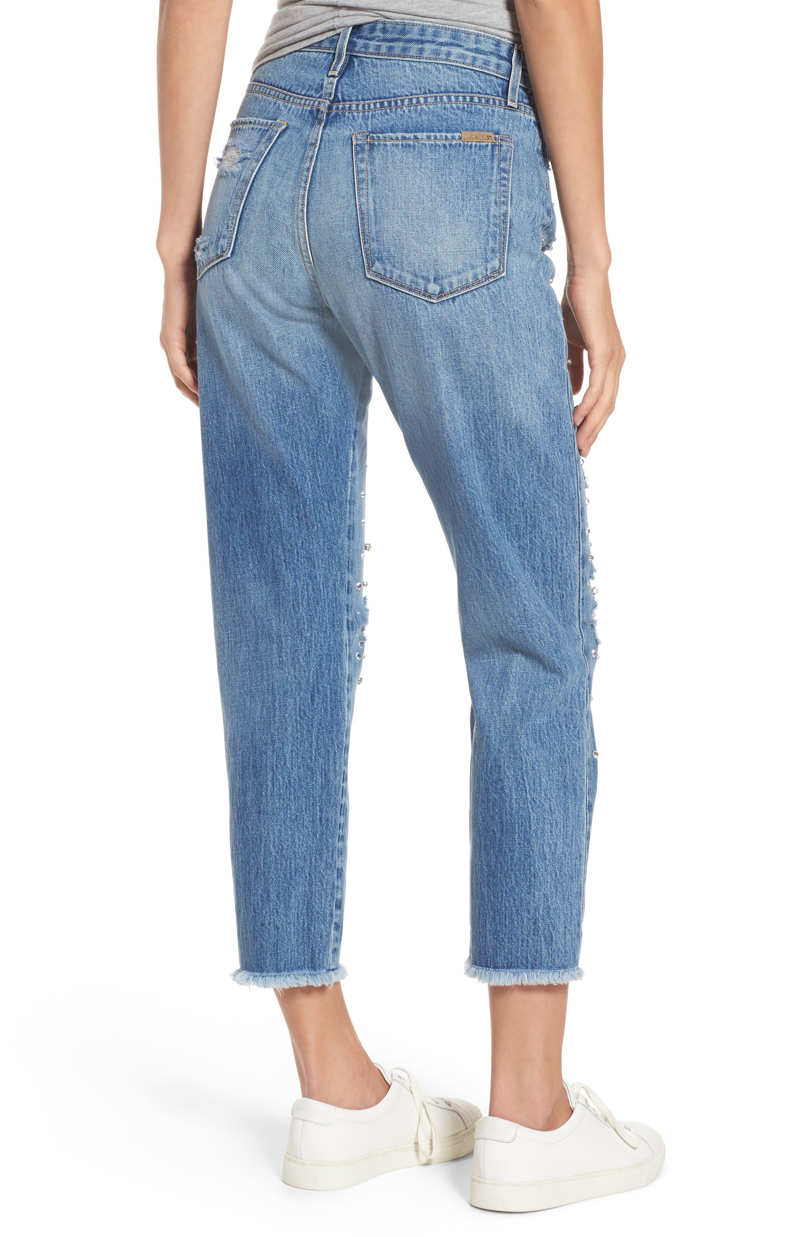 Jeans Smith Rhinestone Crop Boyfriend Jeans,                             Alternate thumbnail 2, color,                             450