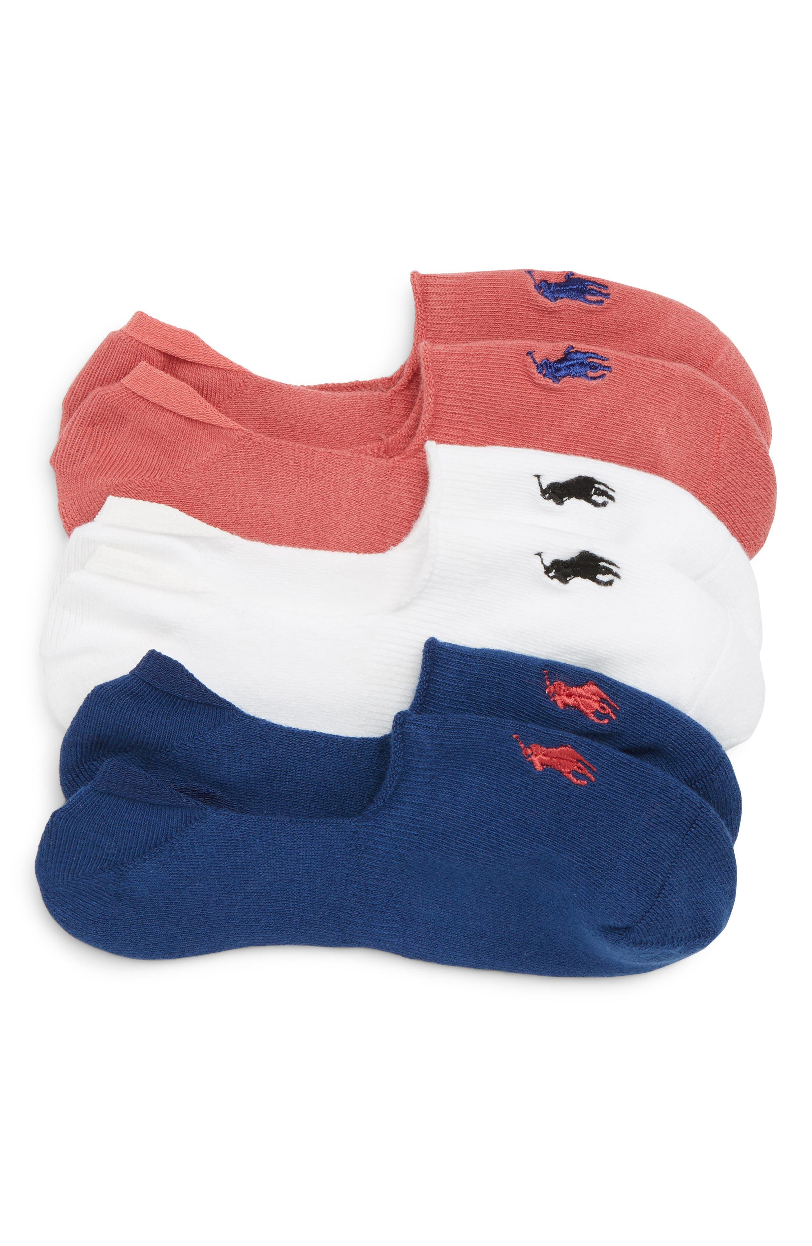 3-Pack No-Show Liner Socks,                             Main thumbnail 2, color,