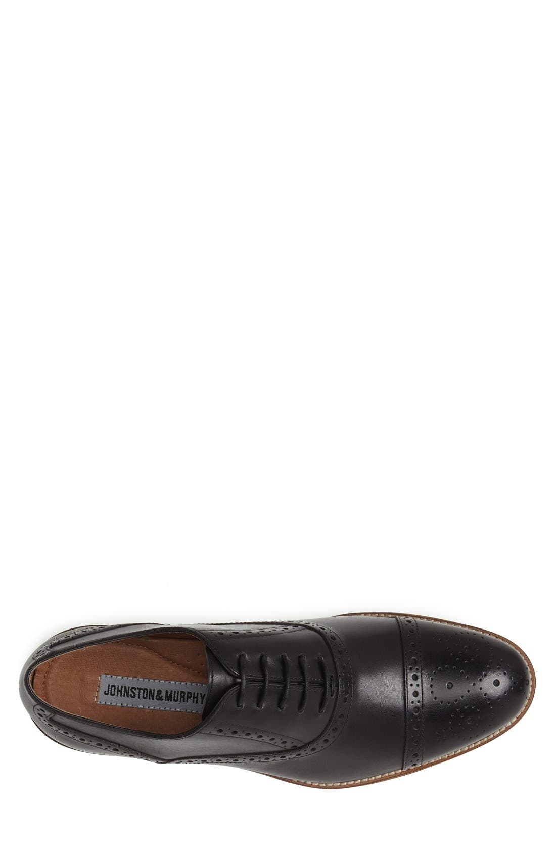 Conard Cap Toe Oxford,                             Alternate thumbnail 3, color,                             BLACK