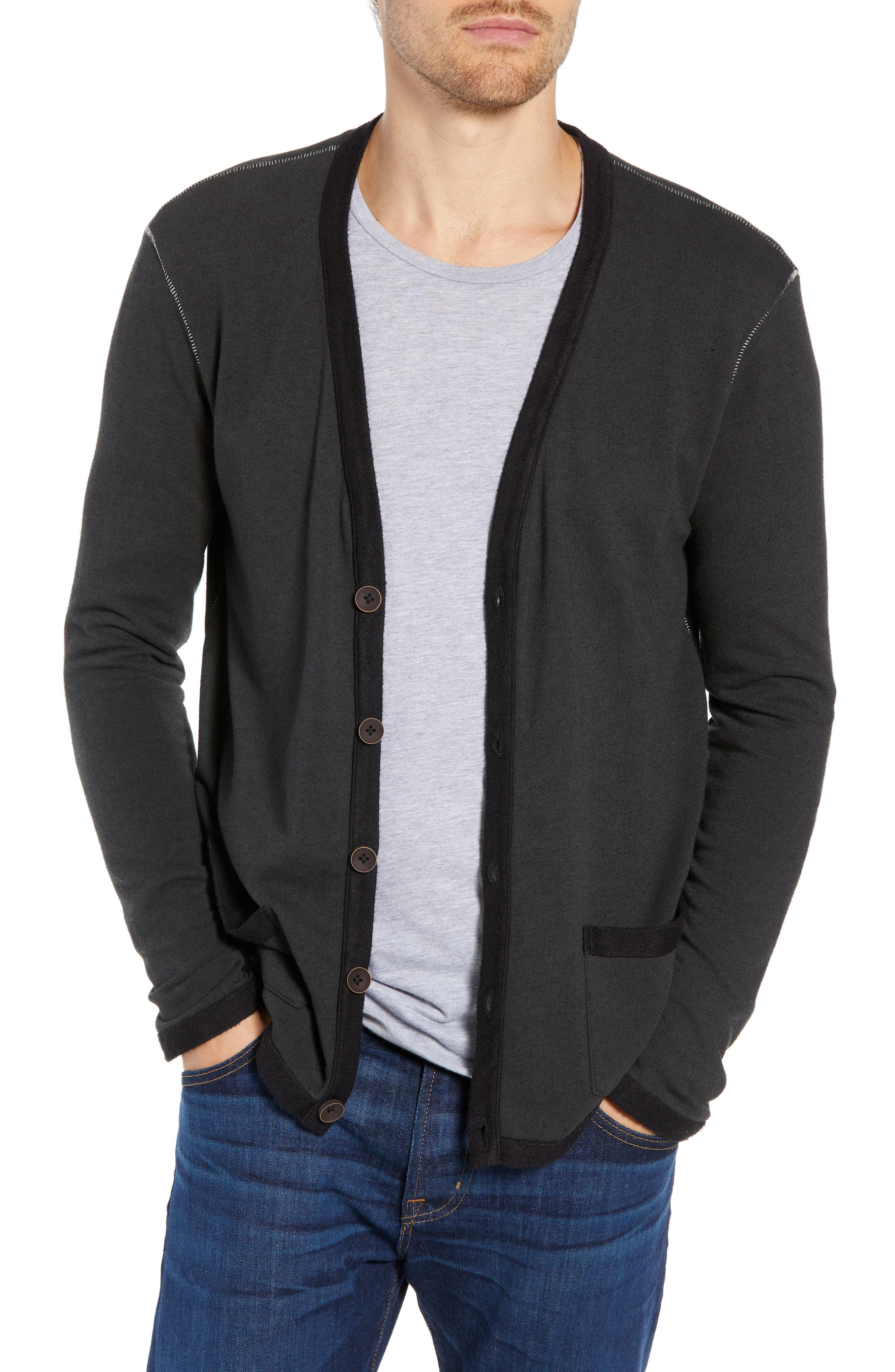 M.singer Cardigan Sweater, Grey