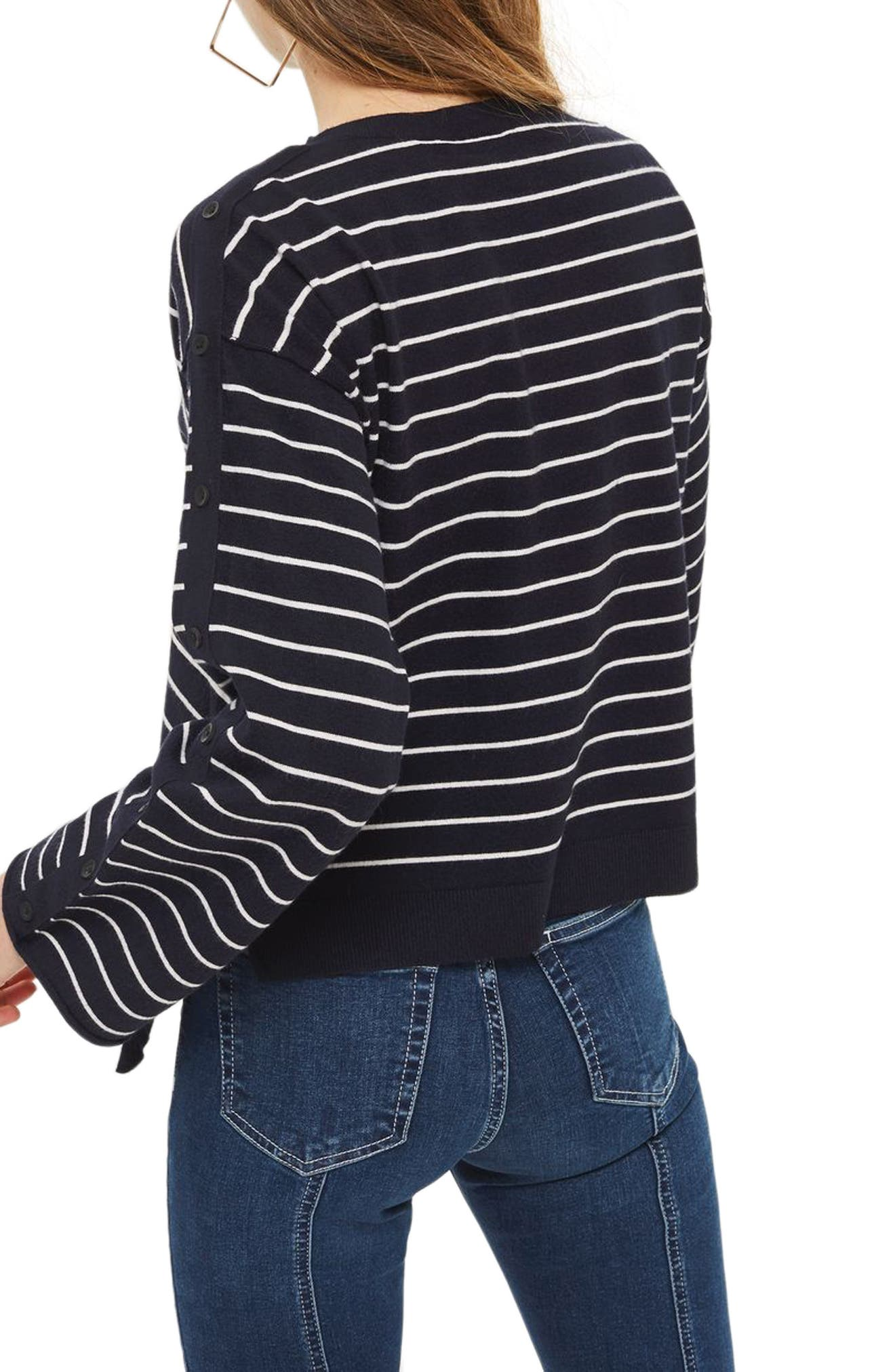 Asymmetrical Hem Sweater,                             Alternate thumbnail 2, color,
