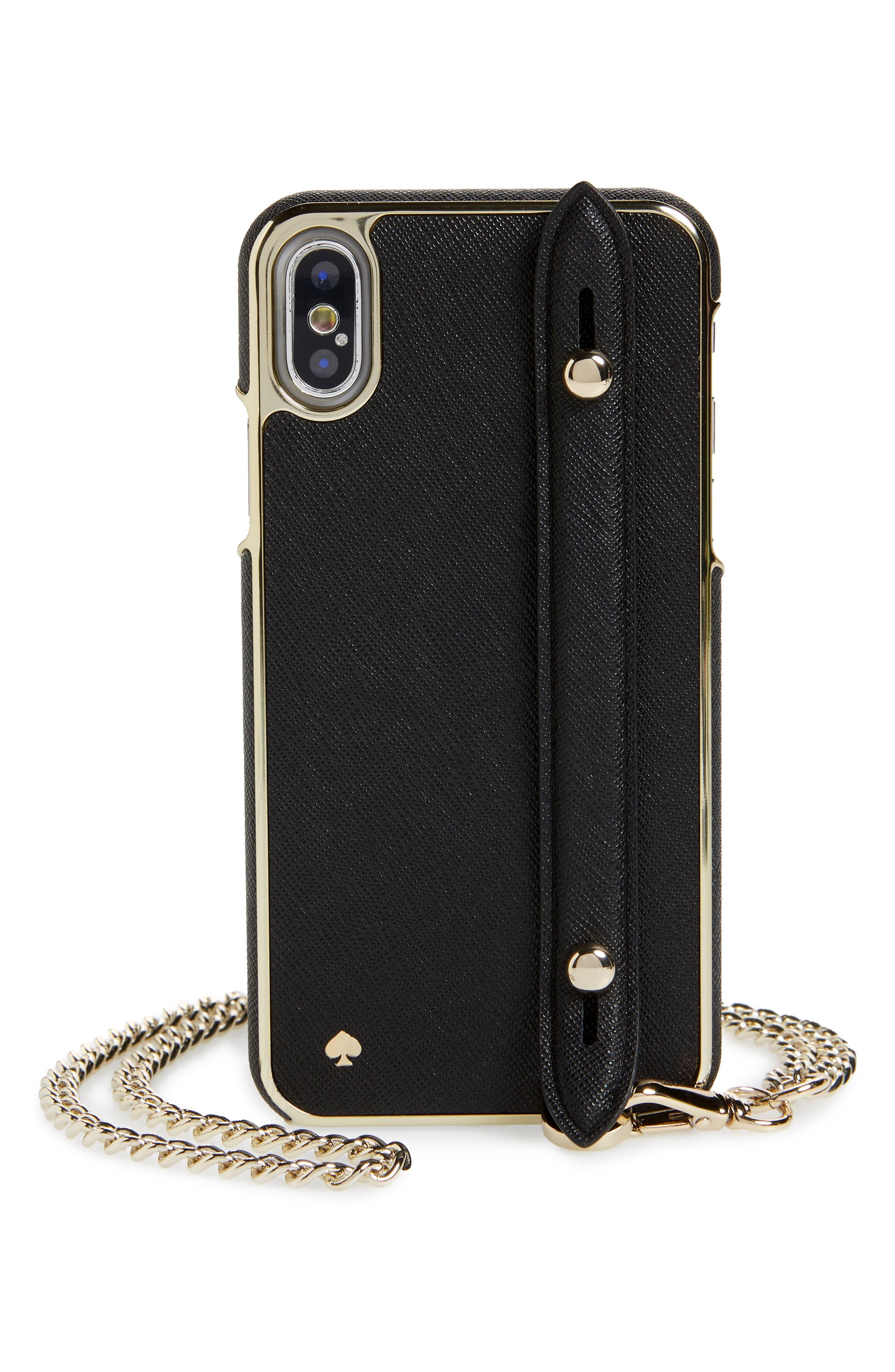 hand strap iPhone X/Xs crossbody case,                             Main thumbnail 1, color,                             001