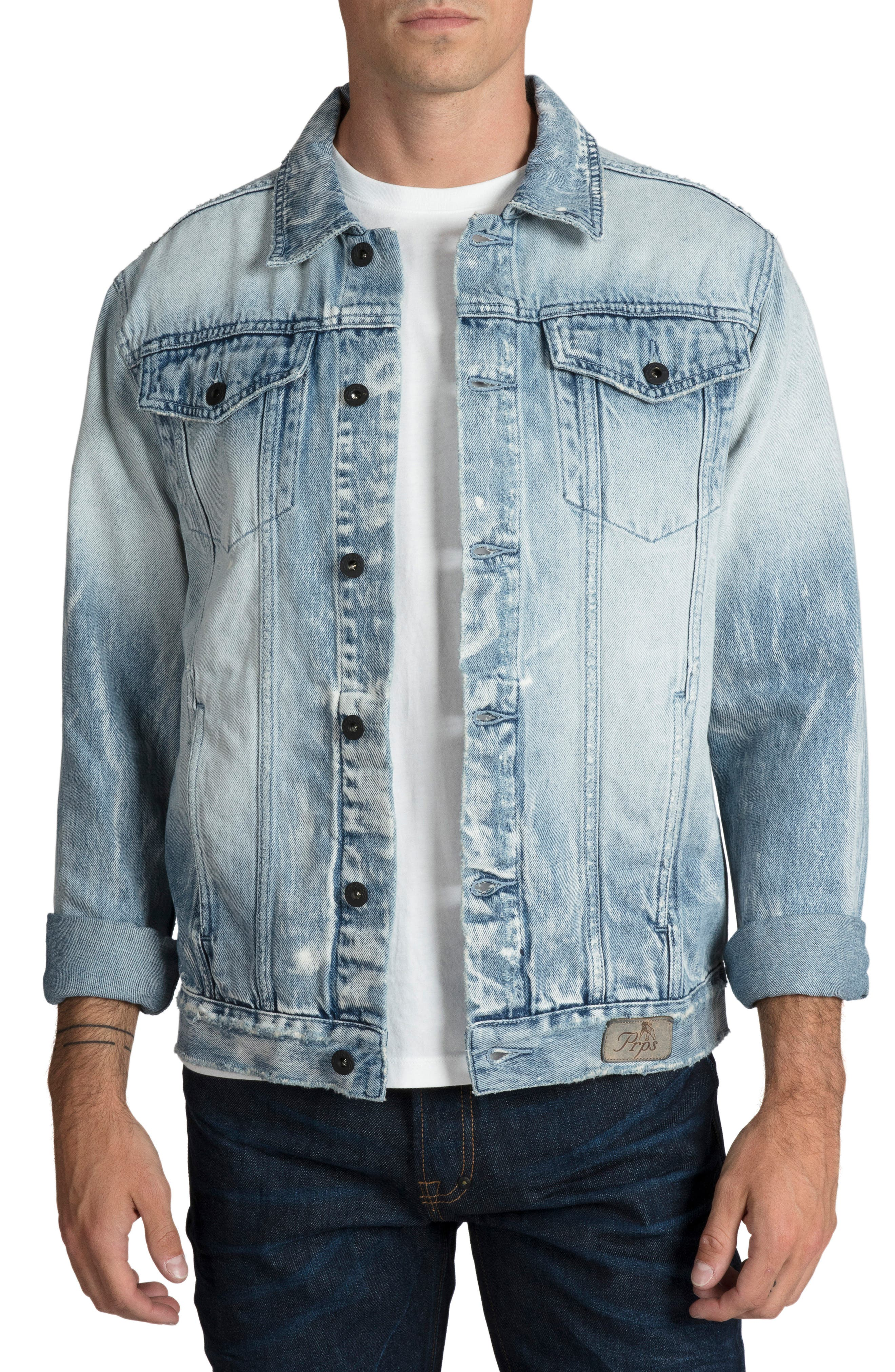 Denim Jacket,                             Main thumbnail 1, color,                             490
