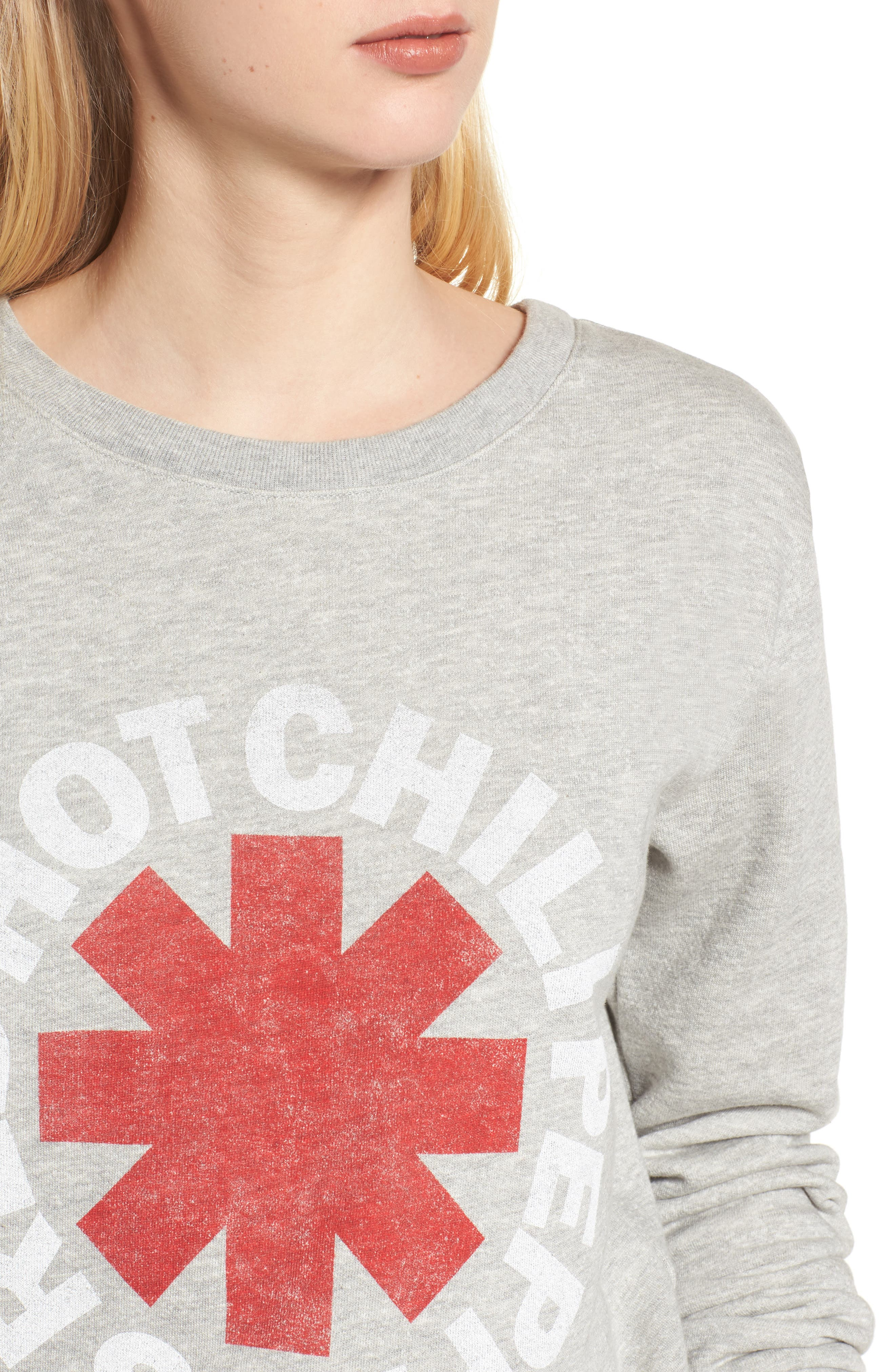 Red Hot Chili Peppers Sweatshirt,                             Alternate thumbnail 4, color,