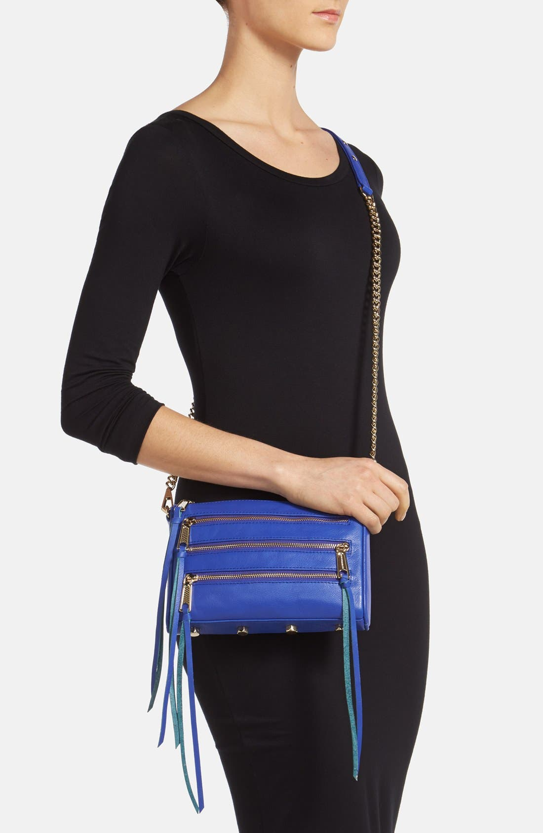 'Mini 5 Zip' Convertible Crossbody Bag,                             Alternate thumbnail 4, color,                             401