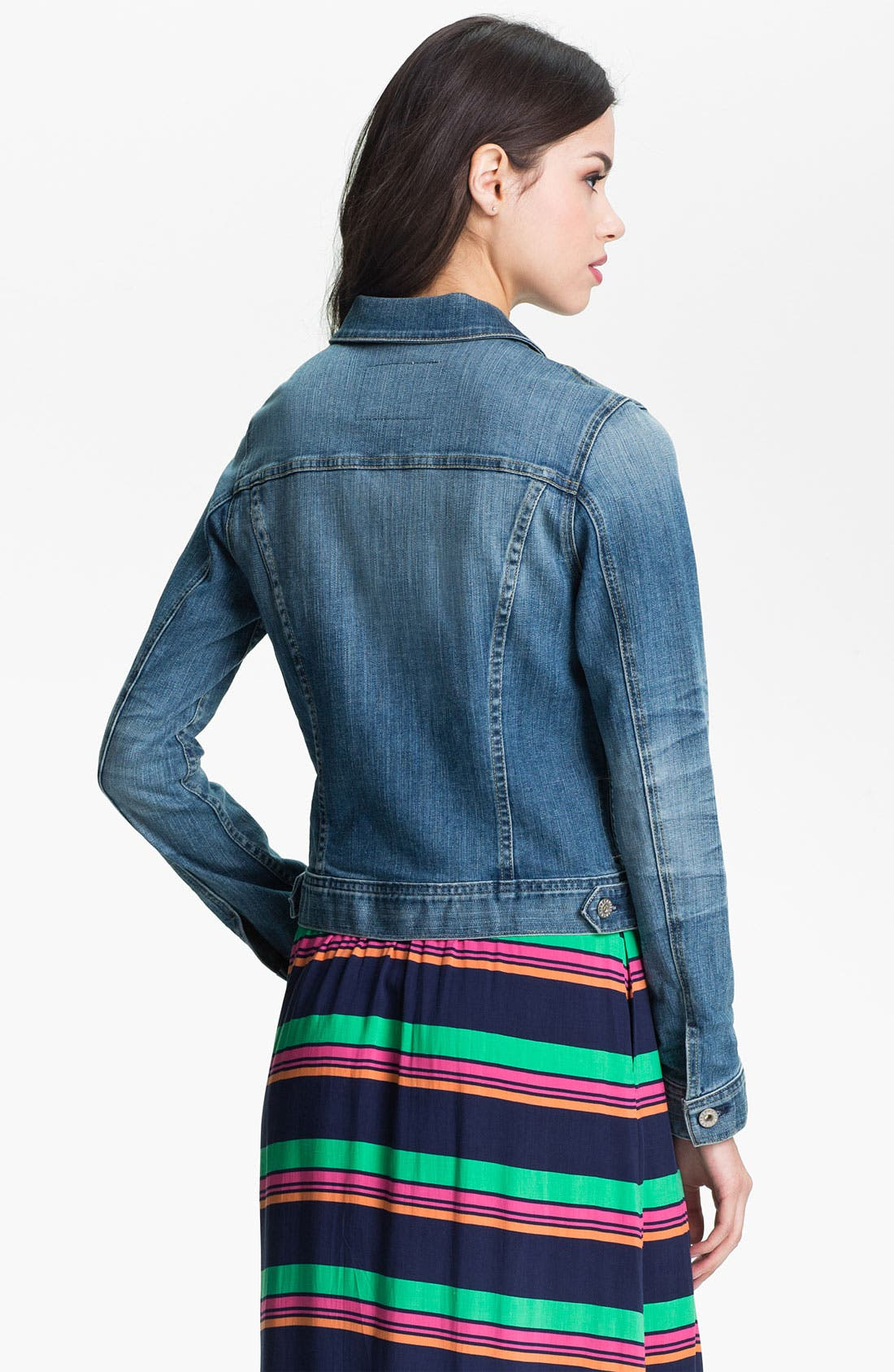 'Robyn' Denim Jacket,                             Alternate thumbnail 2, color,                             400