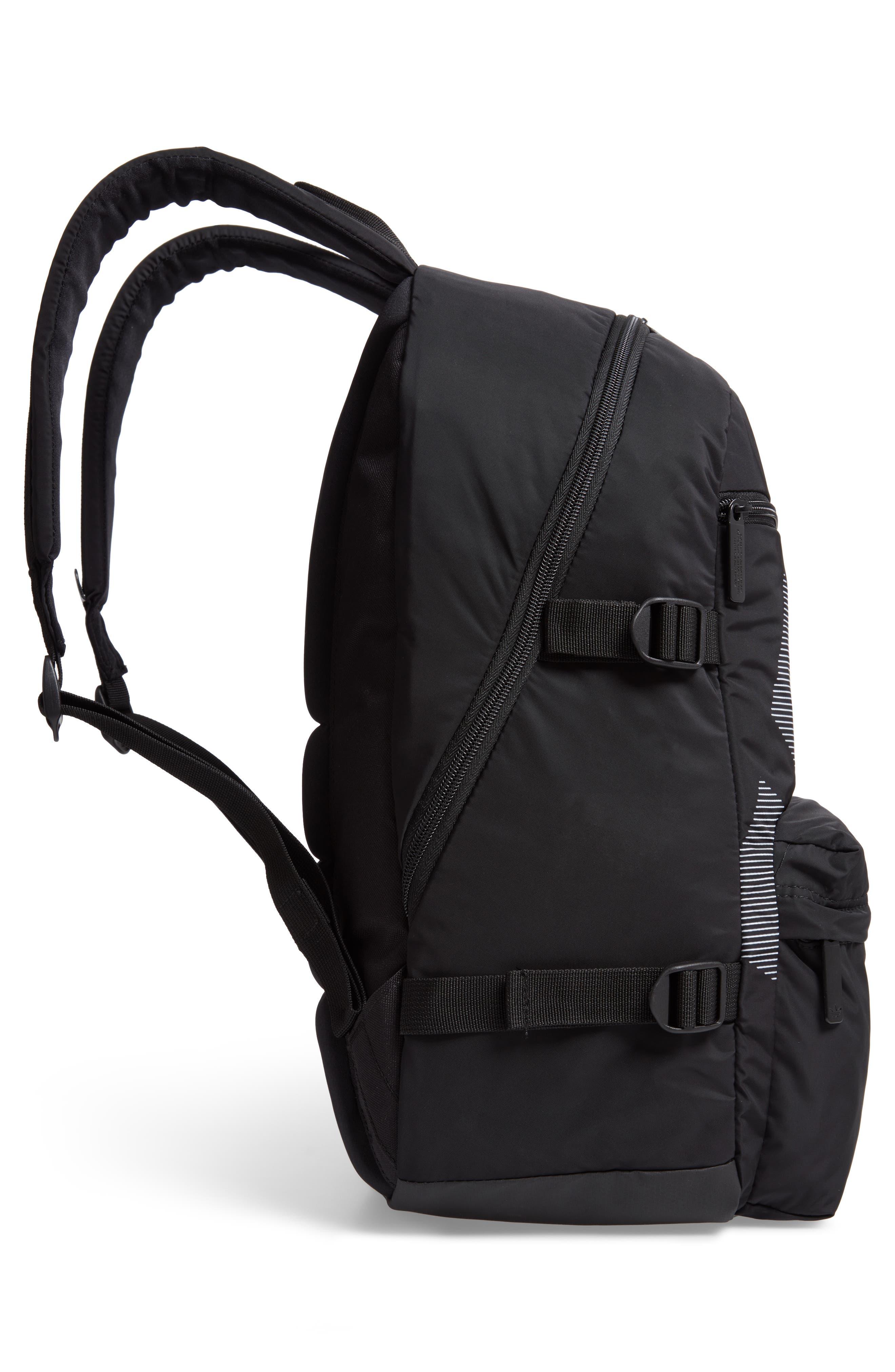 EQT Backpack,                             Alternate thumbnail 5, color,                             BLACK/ WHITE/ SUB GREEN