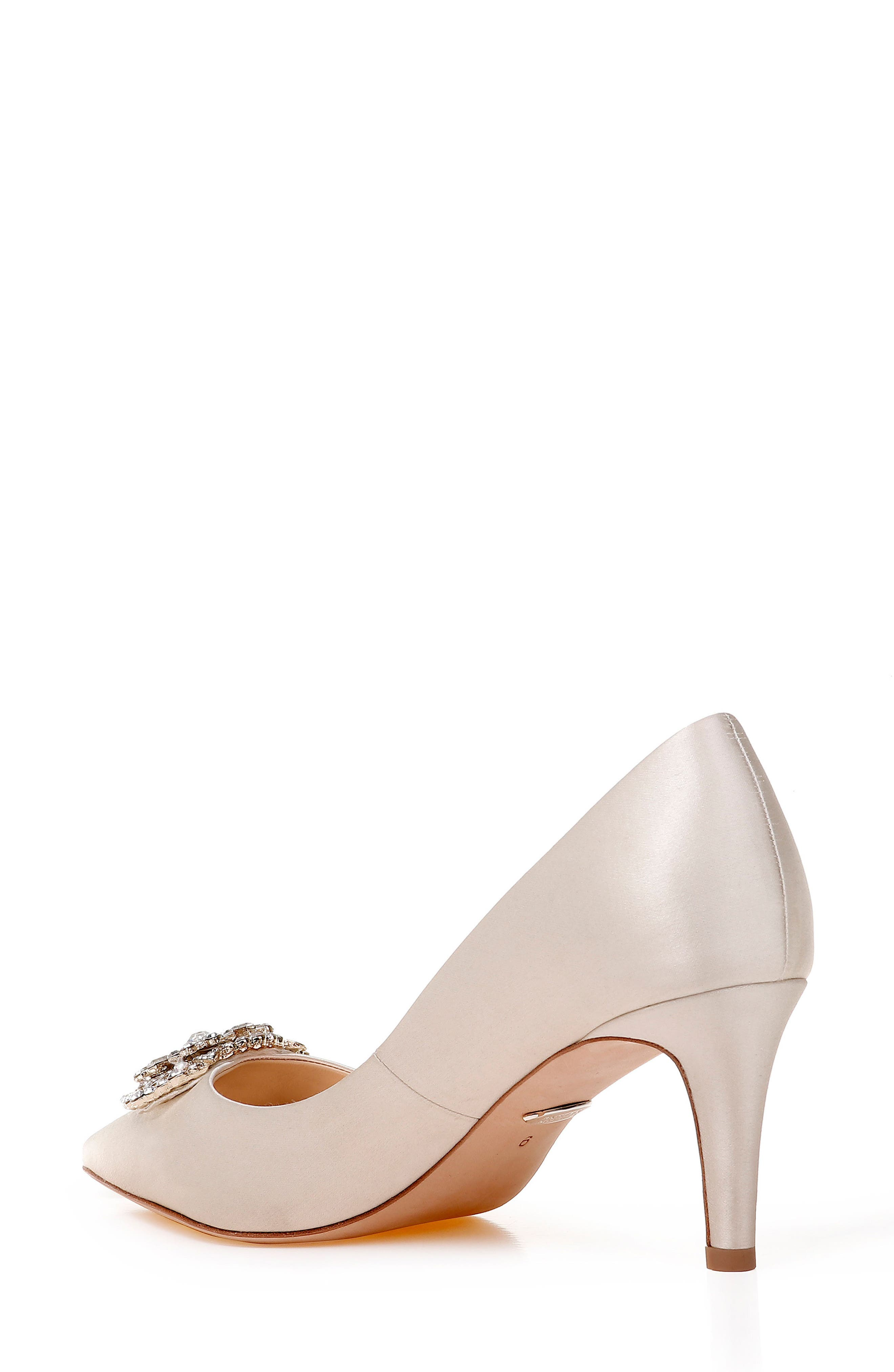 Sunshine Embellished Pump,                             Alternate thumbnail 2, color,                             IVORY SATIN