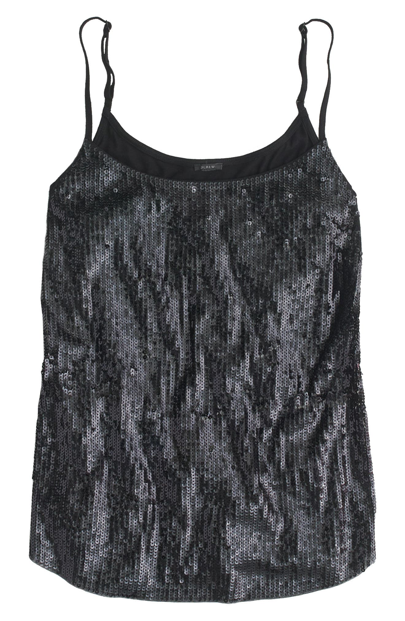 Sequin Cami,                             Main thumbnail 1, color,                             001