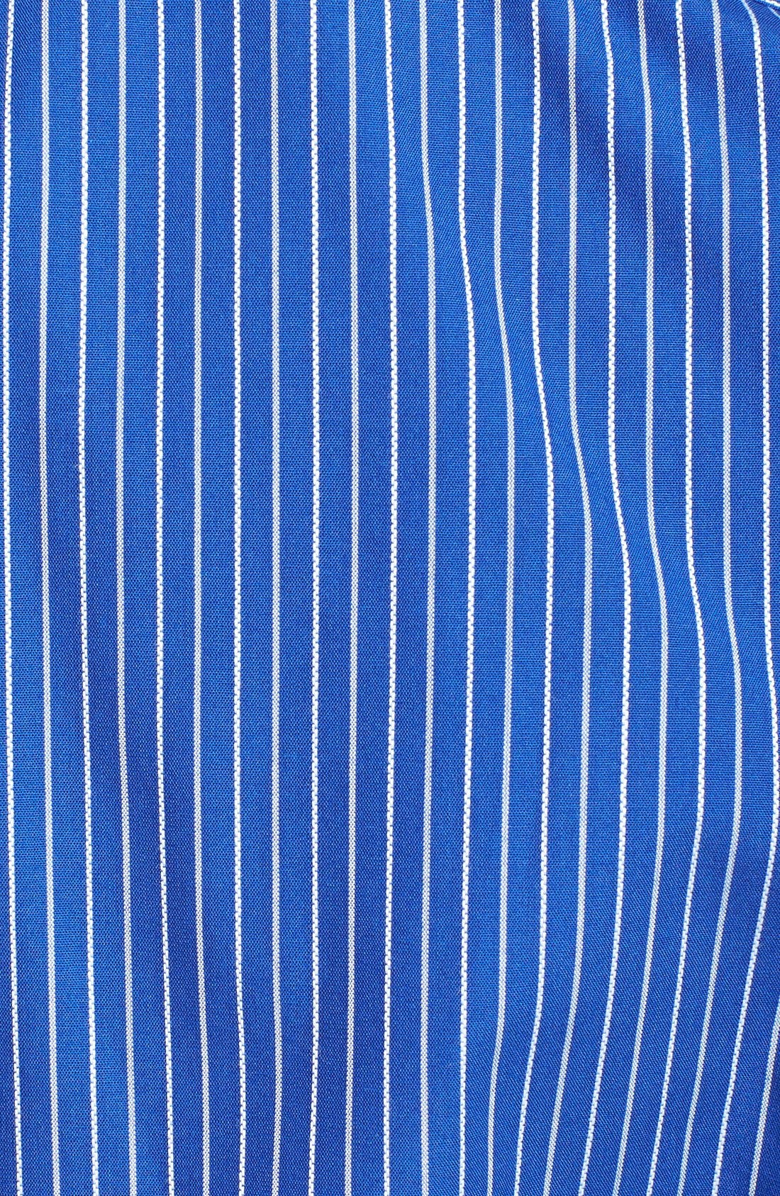 'Epic Easy Care' Classic Fit Vertical Pinstripe Wrinkle Resistant Sport Shirt,                             Alternate thumbnail 5, color,                             460