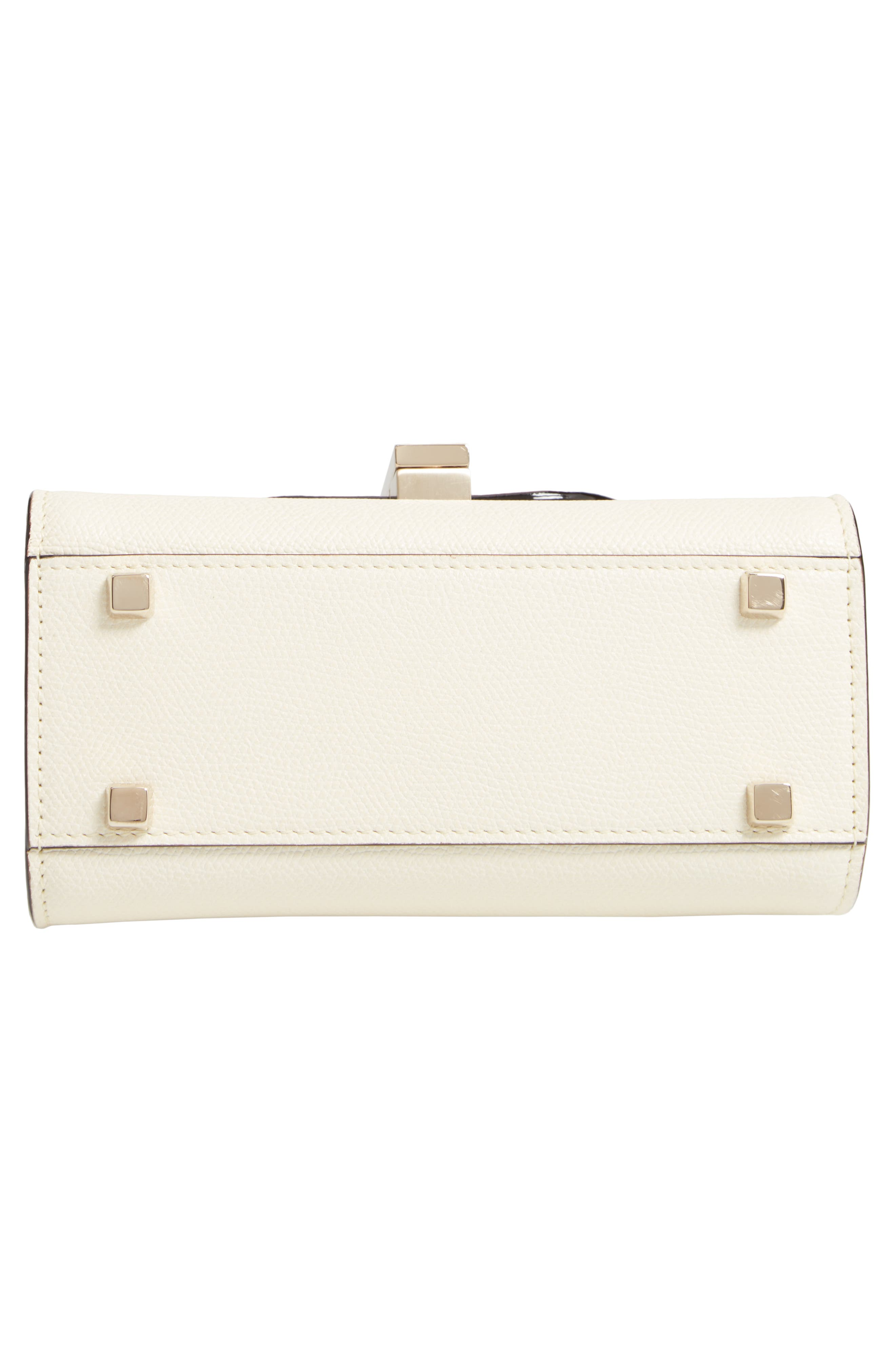Iside Micro Top Handle Bag,                             Alternate thumbnail 6, color,                             WHITE