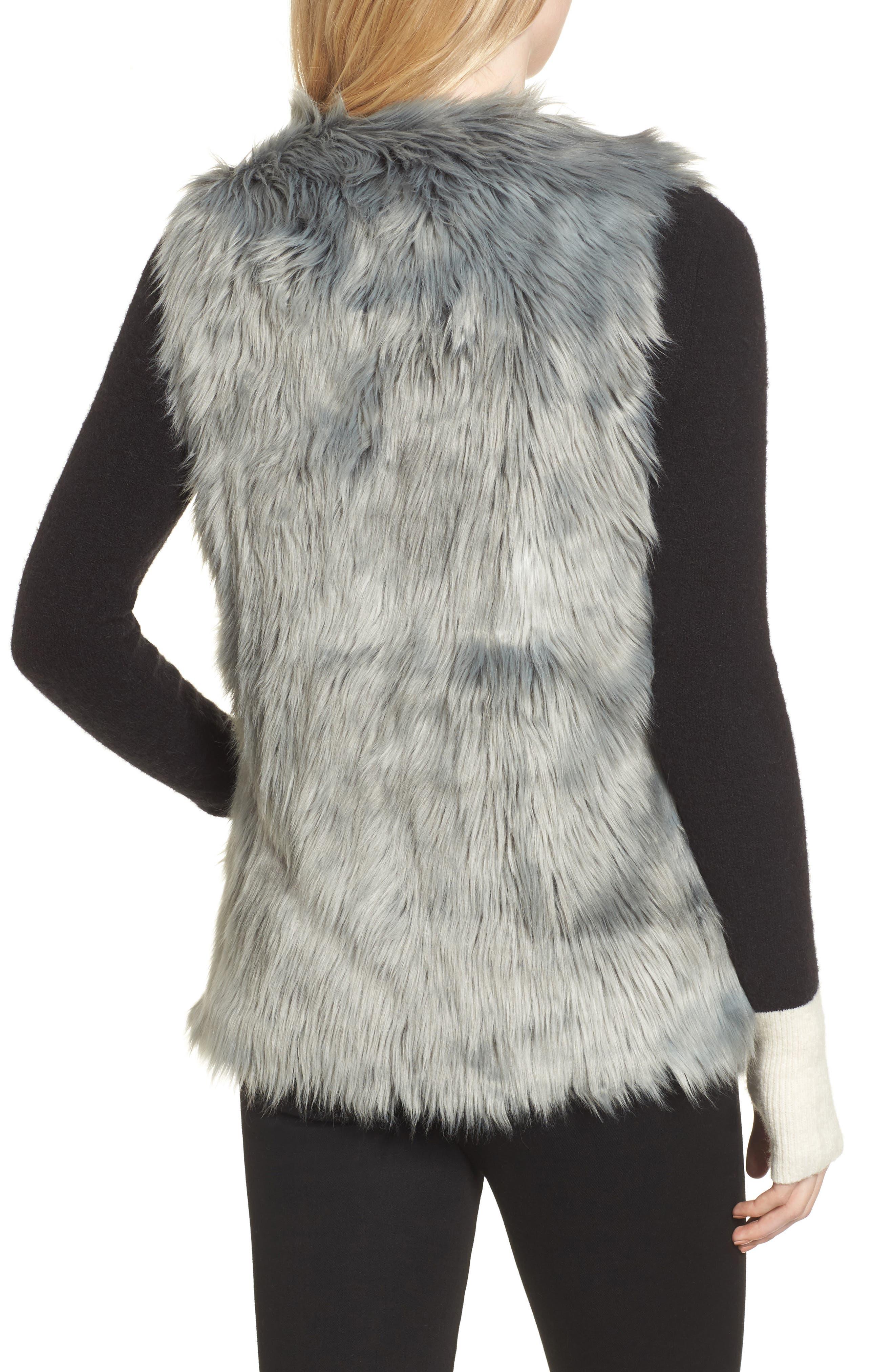 Faux Fur Vest,                             Alternate thumbnail 2, color,                             425
