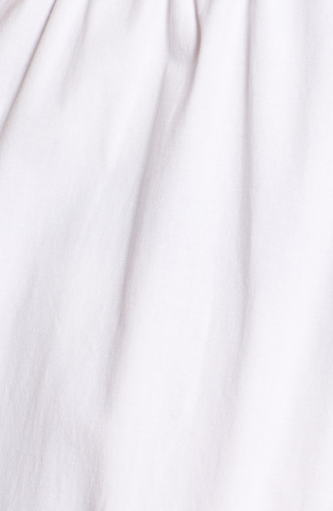 Ruffle Sleeve Jumpsuit,                             Alternate thumbnail 6, color,                             100