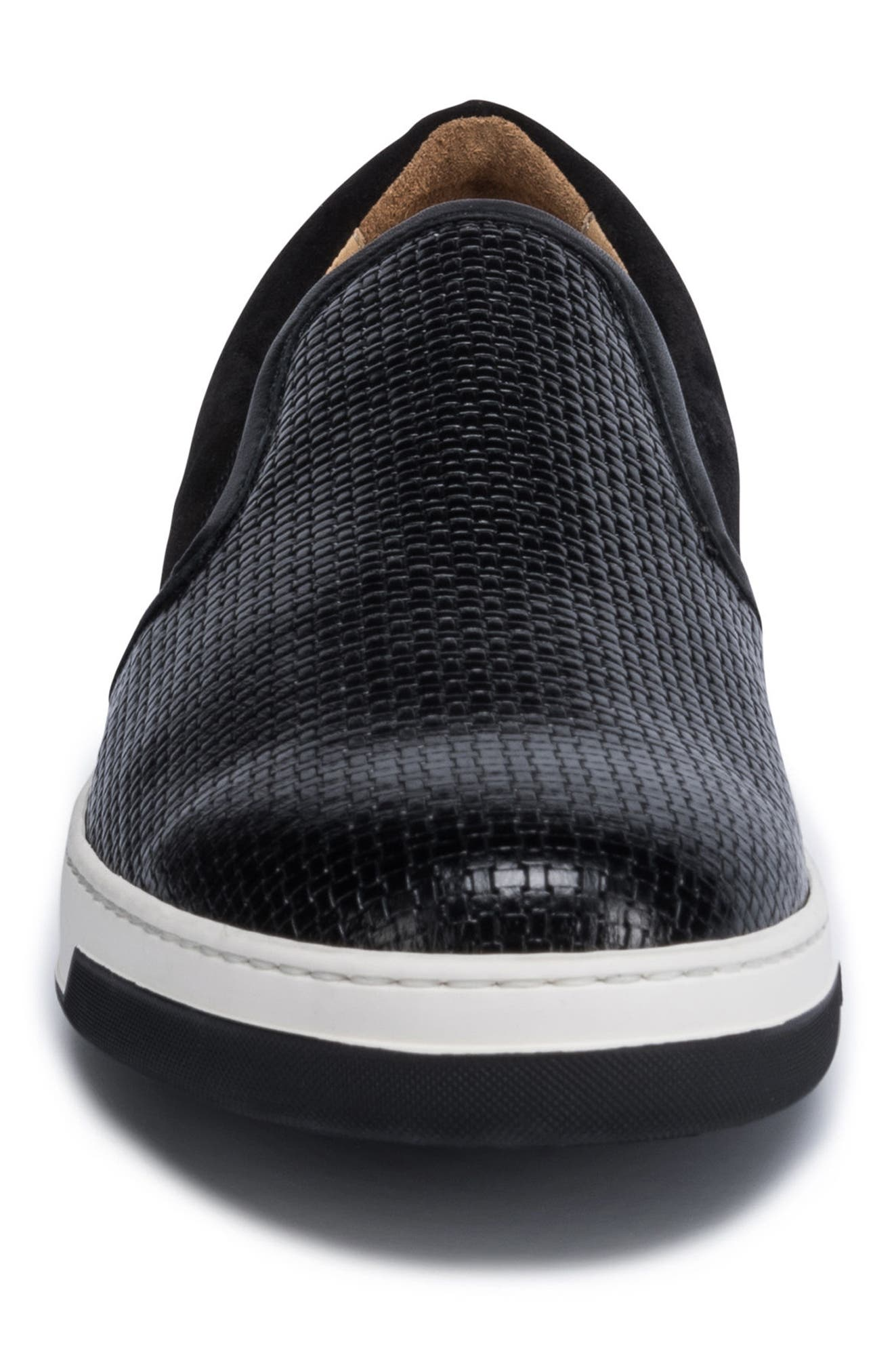 Cinque Terre Woven Slip-On Sneaker,                             Alternate thumbnail 4, color,                             001