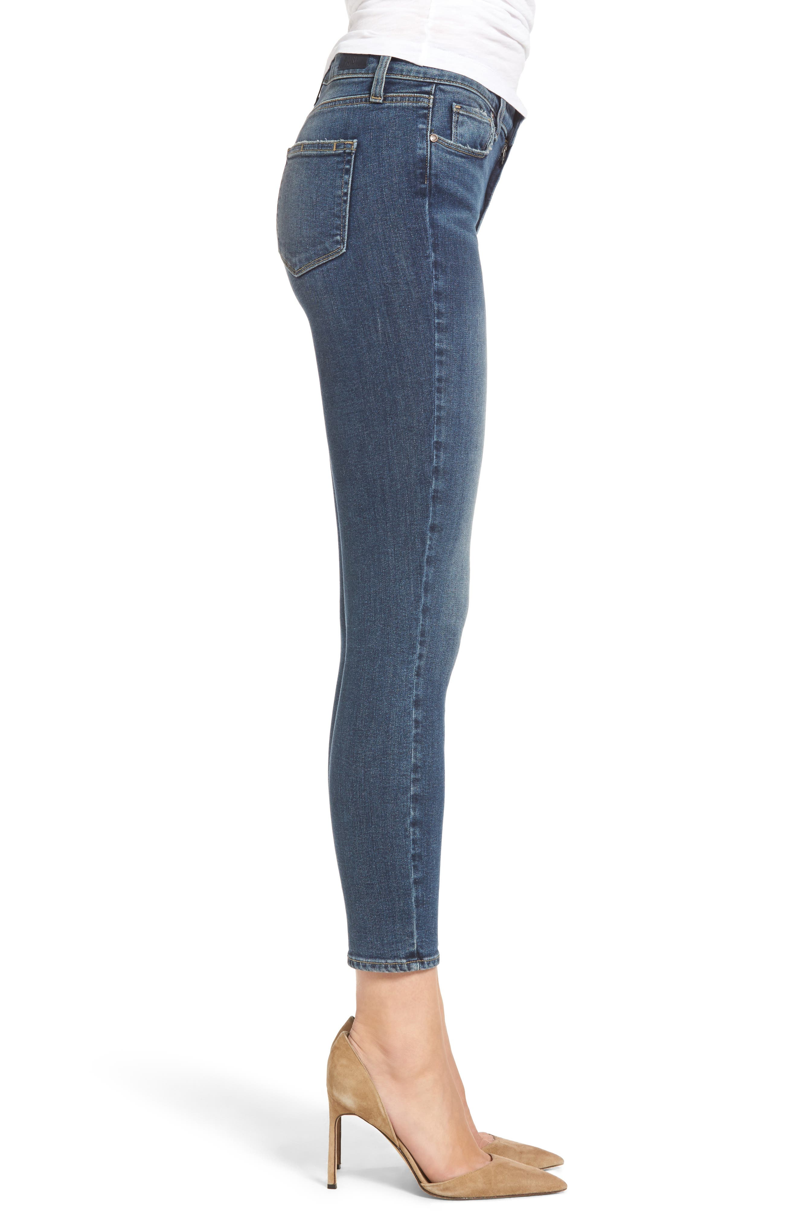 Hoxton High Waist Crop Skinny Jeans,                             Alternate thumbnail 4, color,                             400
