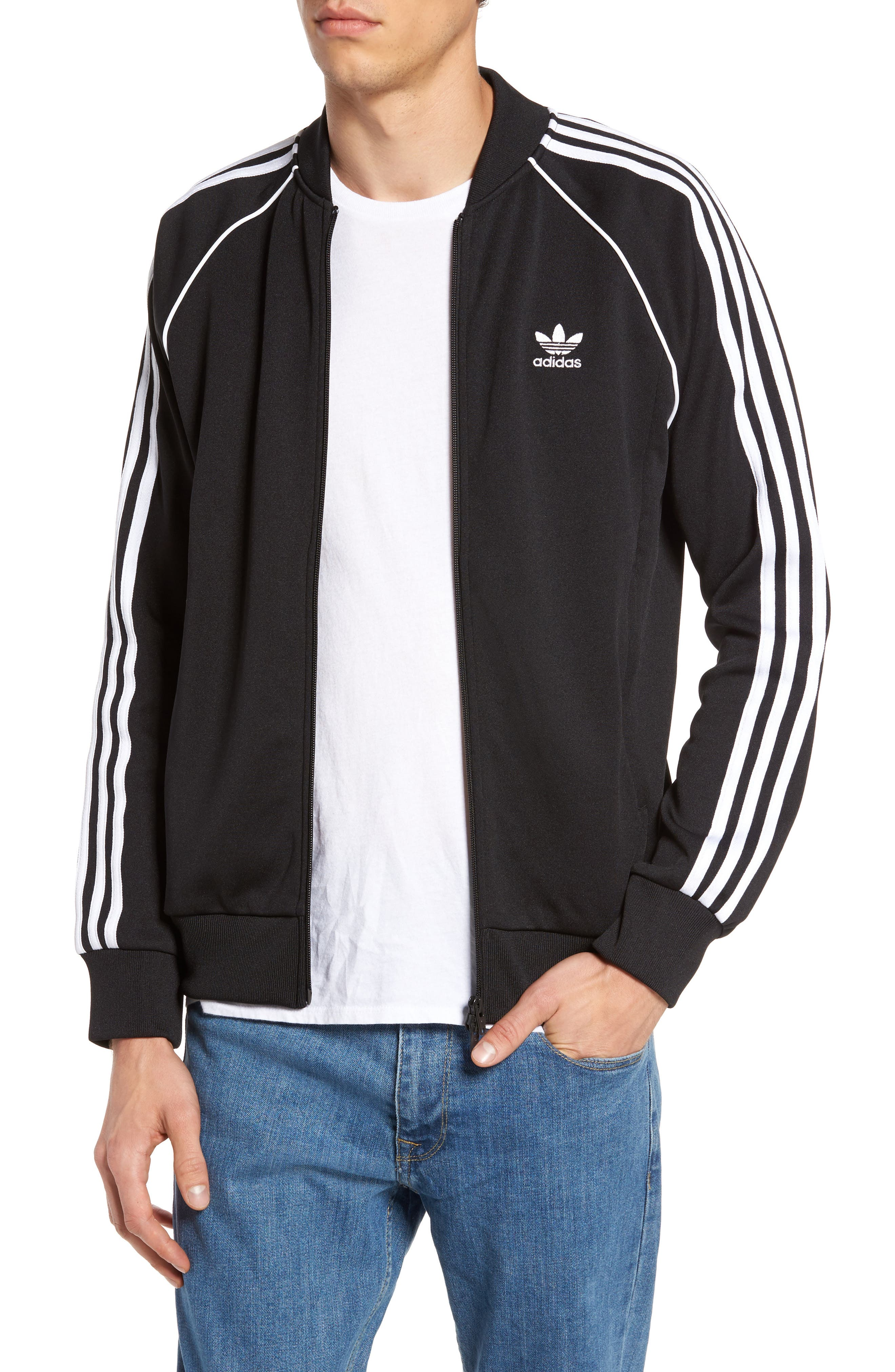 SST Track Jacket,                         Main,                         color, BLACK