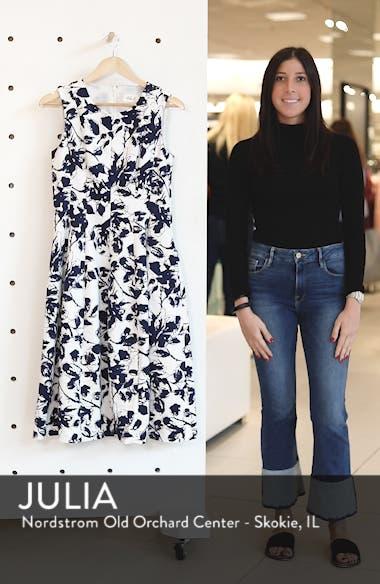Floral Print Faille Midi Dress, sales video thumbnail