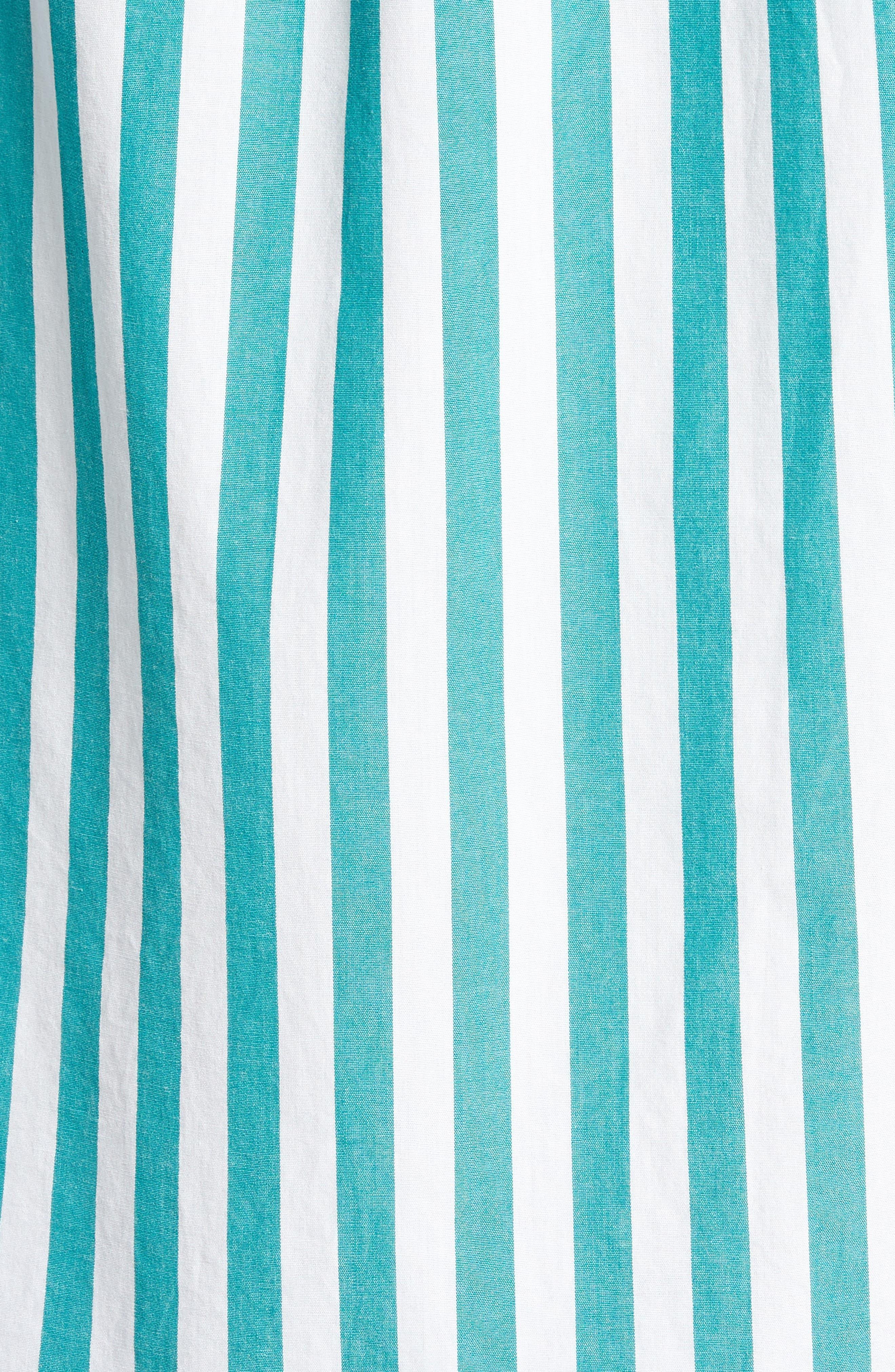 Slim Fit Stretch Secret Wash Stripe Sport Shirt,                             Alternate thumbnail 5, color,                             400