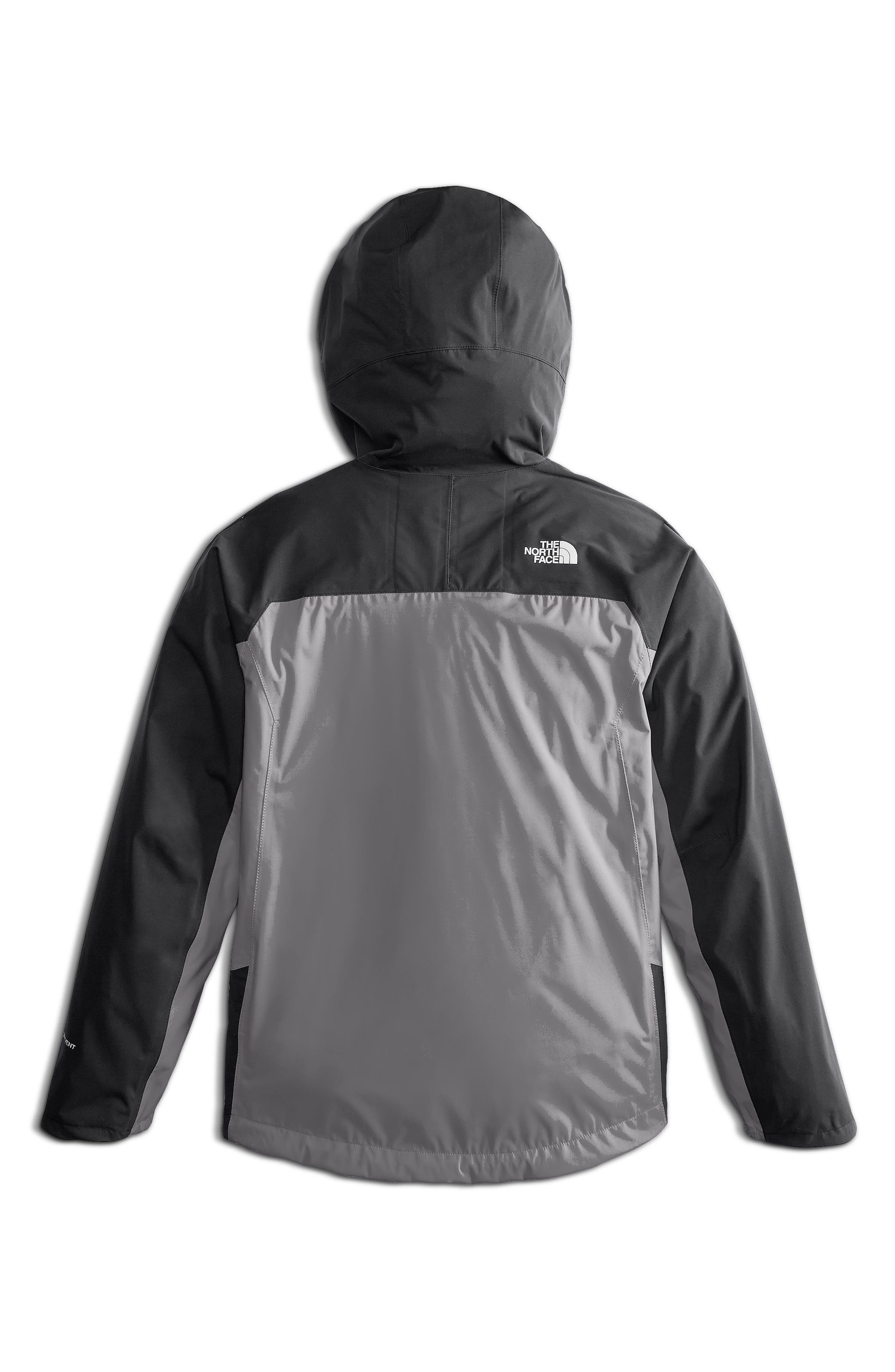 Allproof Stretch Hooded Rain Jacket,                             Alternate thumbnail 2, color,                             MID GREY