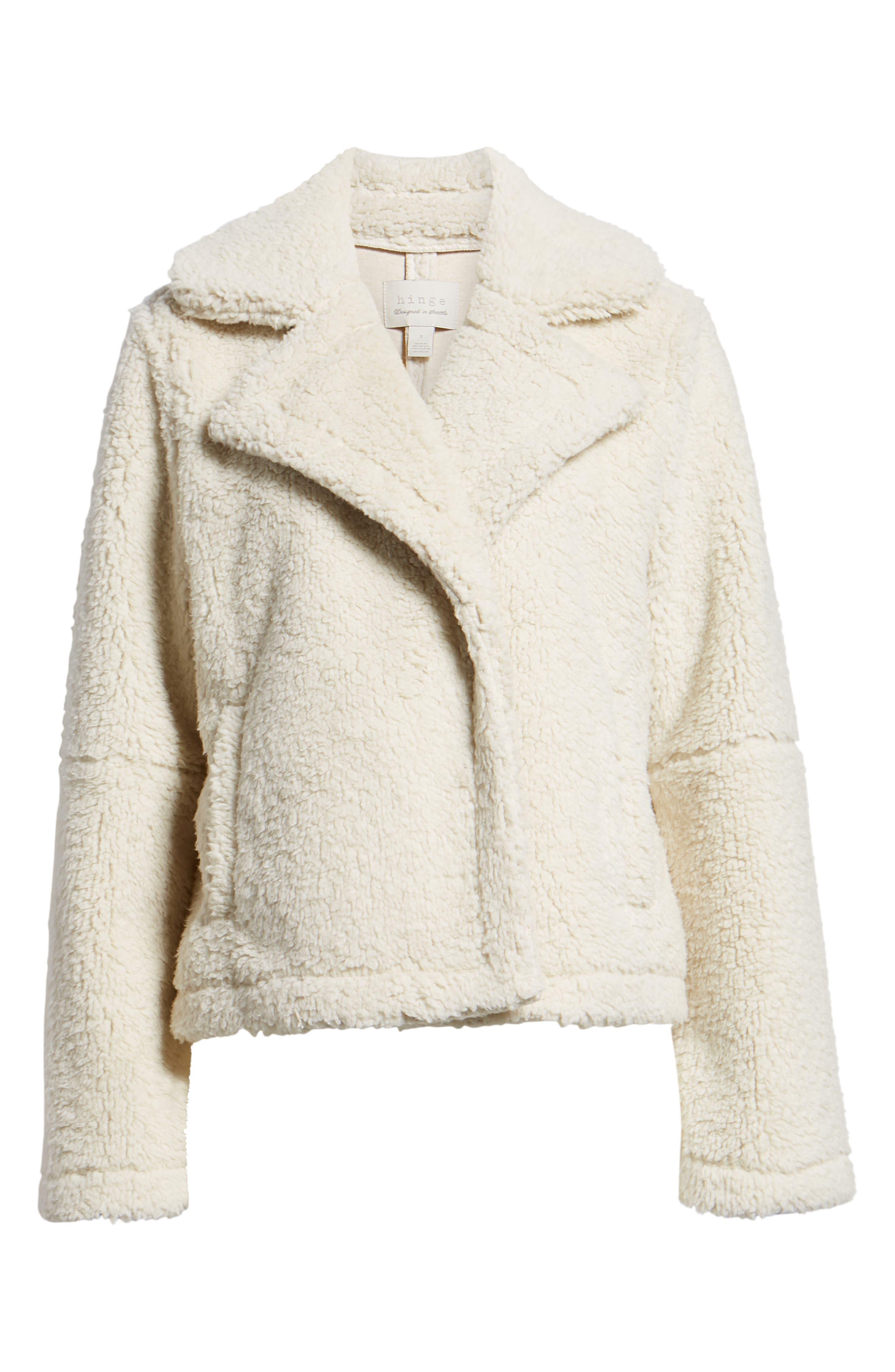 Teddy Bear Faux Fur Jacket,                             Alternate thumbnail 6, color,                             900