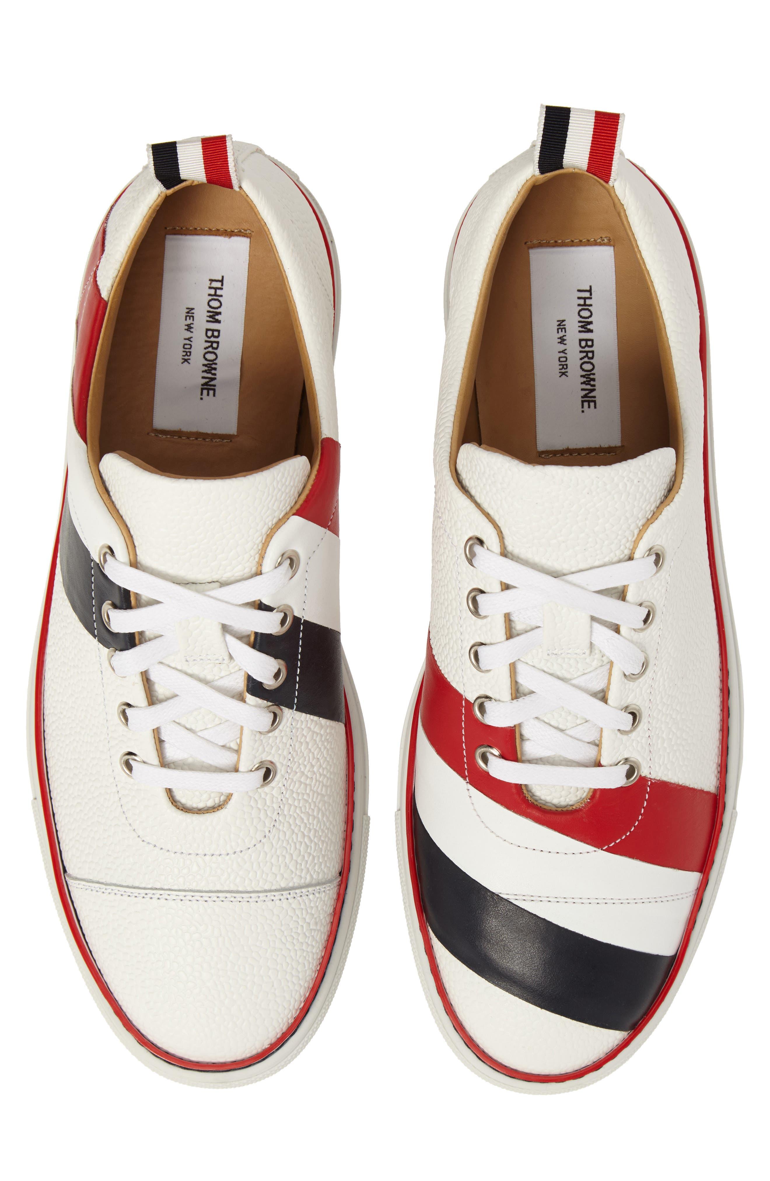 Asymmetrical Stripe Sneaker,                         Main,                         color, 100
