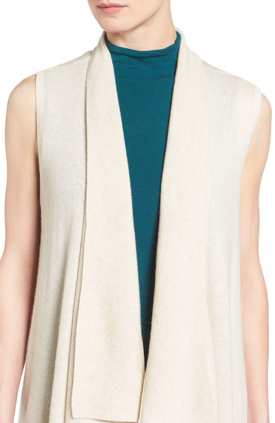 Wool & Cashmere Drape Front Sweater Vest,                             Alternate thumbnail 29, color,