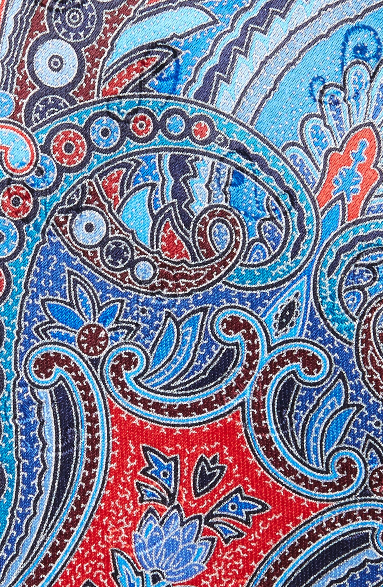Quindici Paisley Silk Tie,                             Alternate thumbnail 2, color,                             418