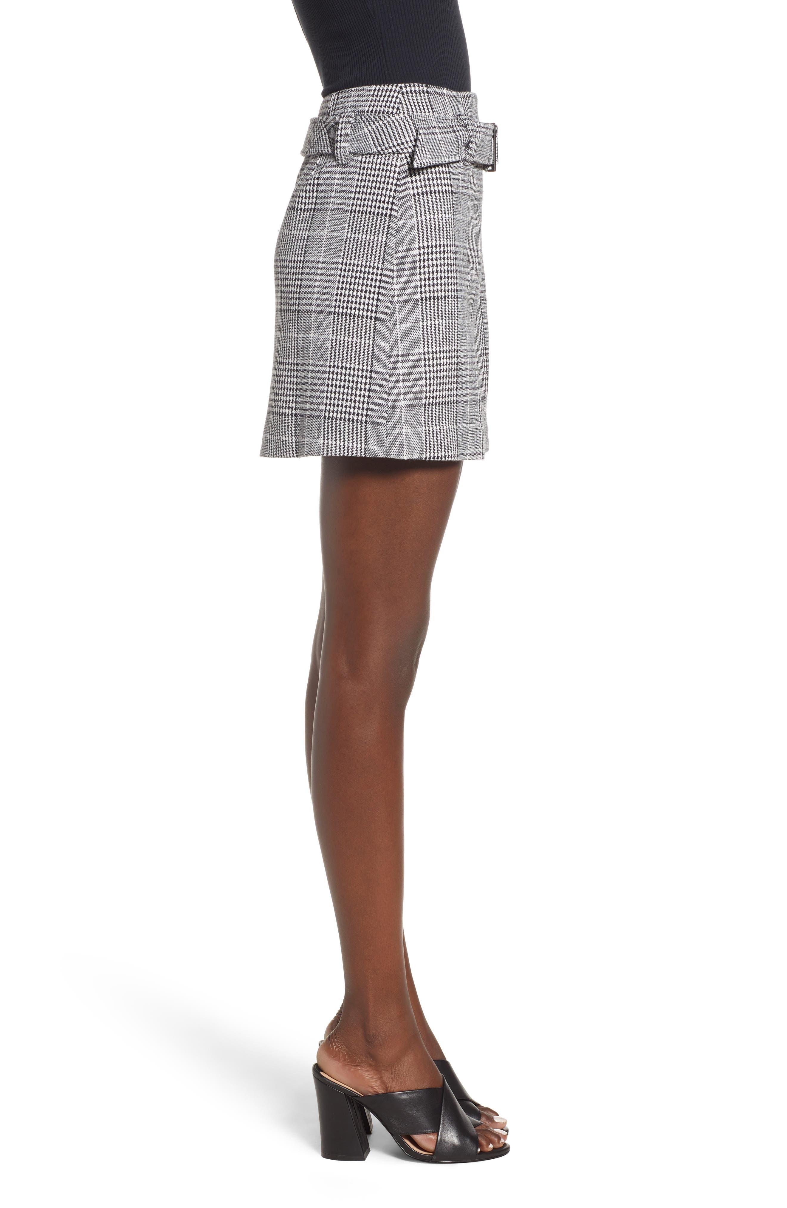 Plaid Miniskirt,                             Alternate thumbnail 3, color,                             BLACK SHAROL PLAID