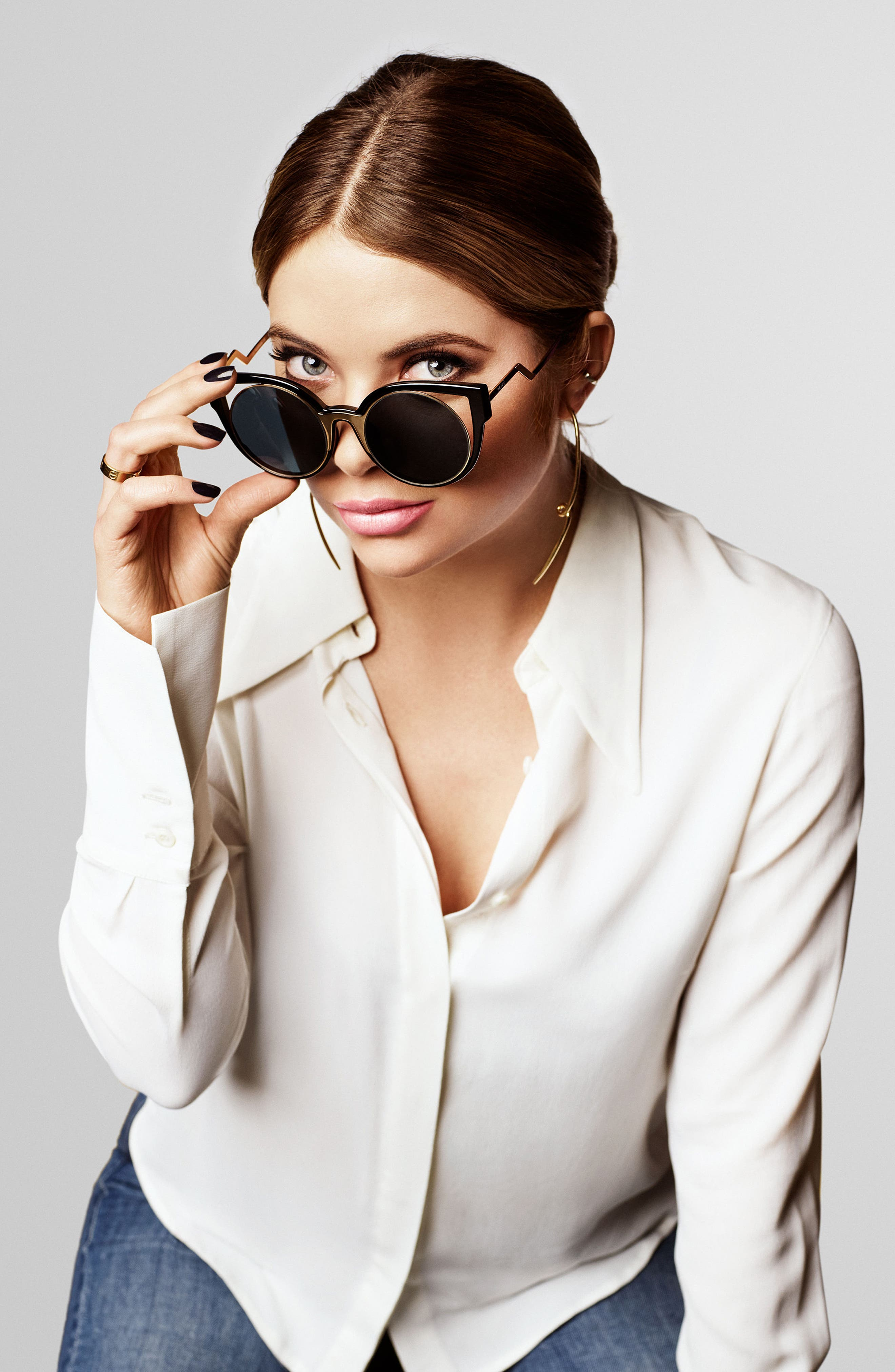 Privé Revaux The Feminist 47mm Cat Eye Sunglasses,                             Alternate thumbnail 5, color,                             001