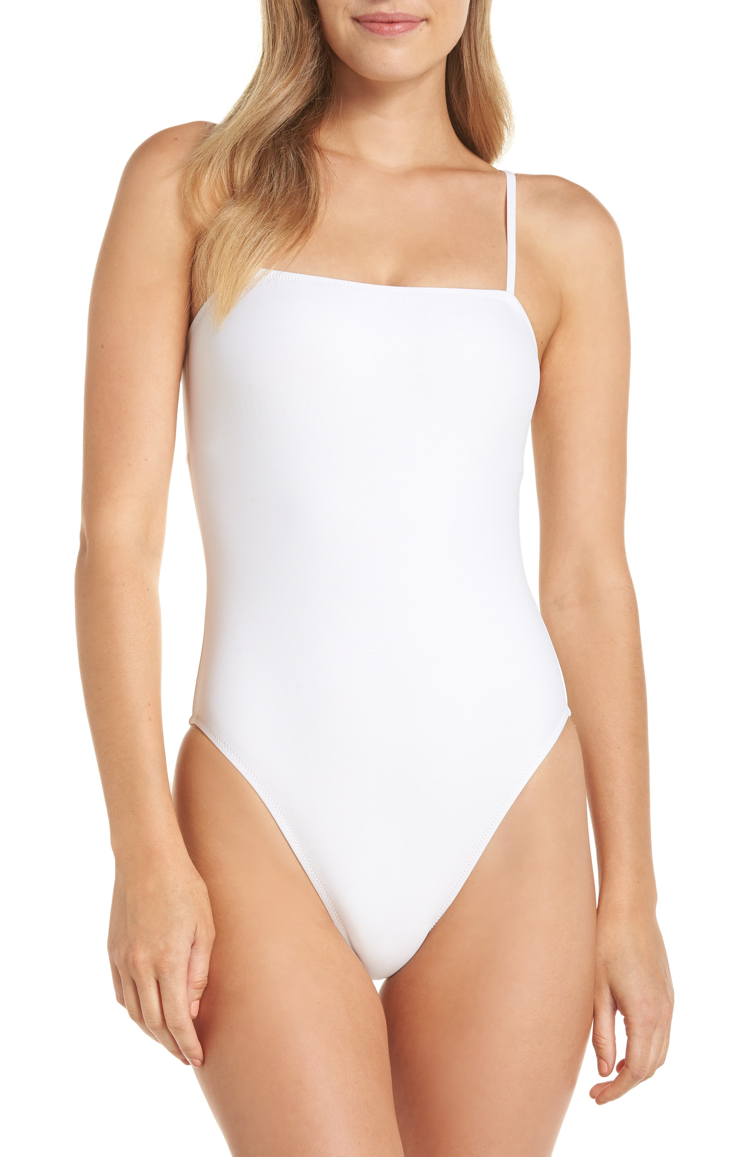 Maggie Baby Bow Back One-Piece Swimsuit,                         Main,                         color, WHITE