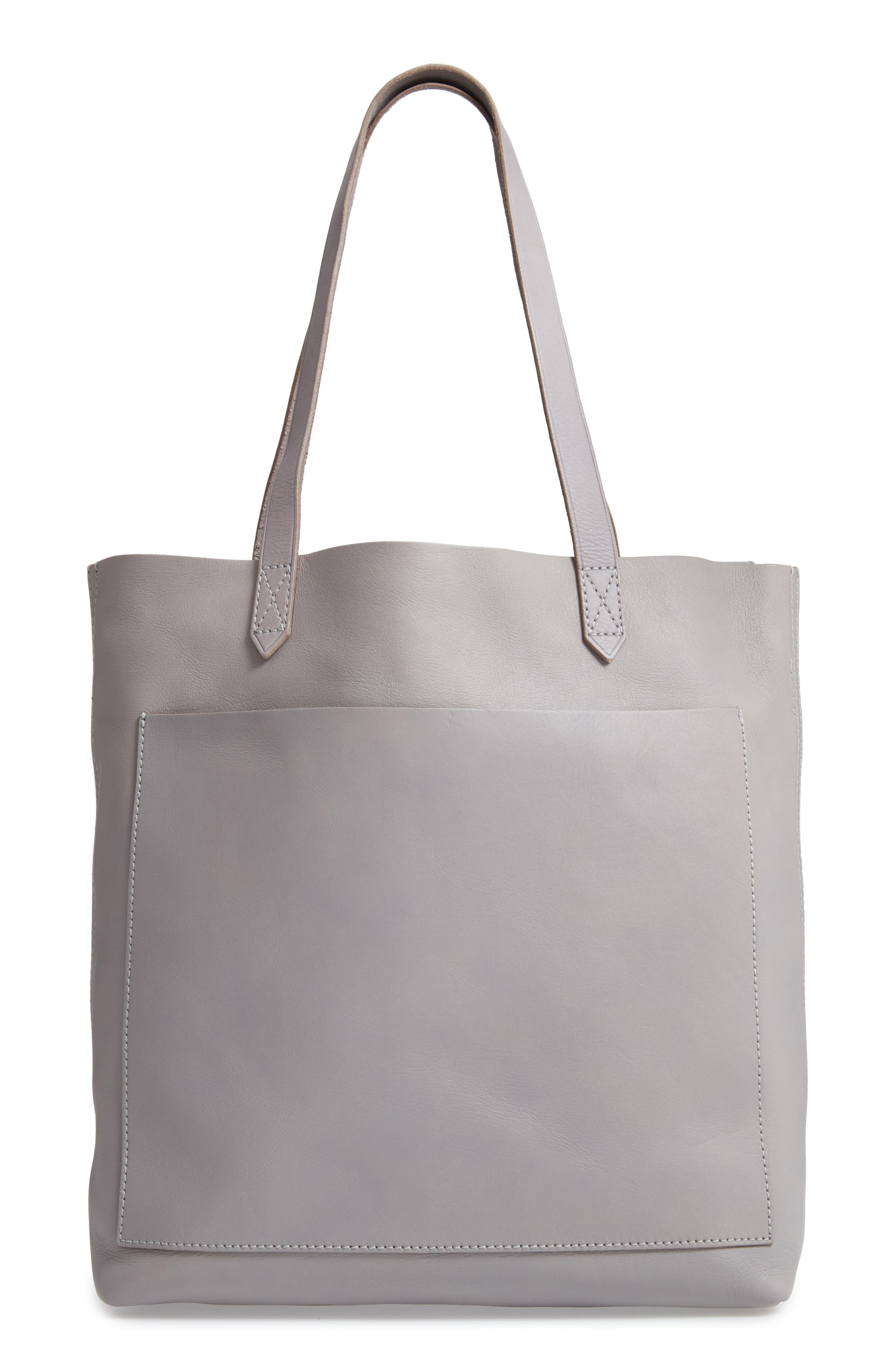 Medium Leather Transport Tote,                         Main,                         color,