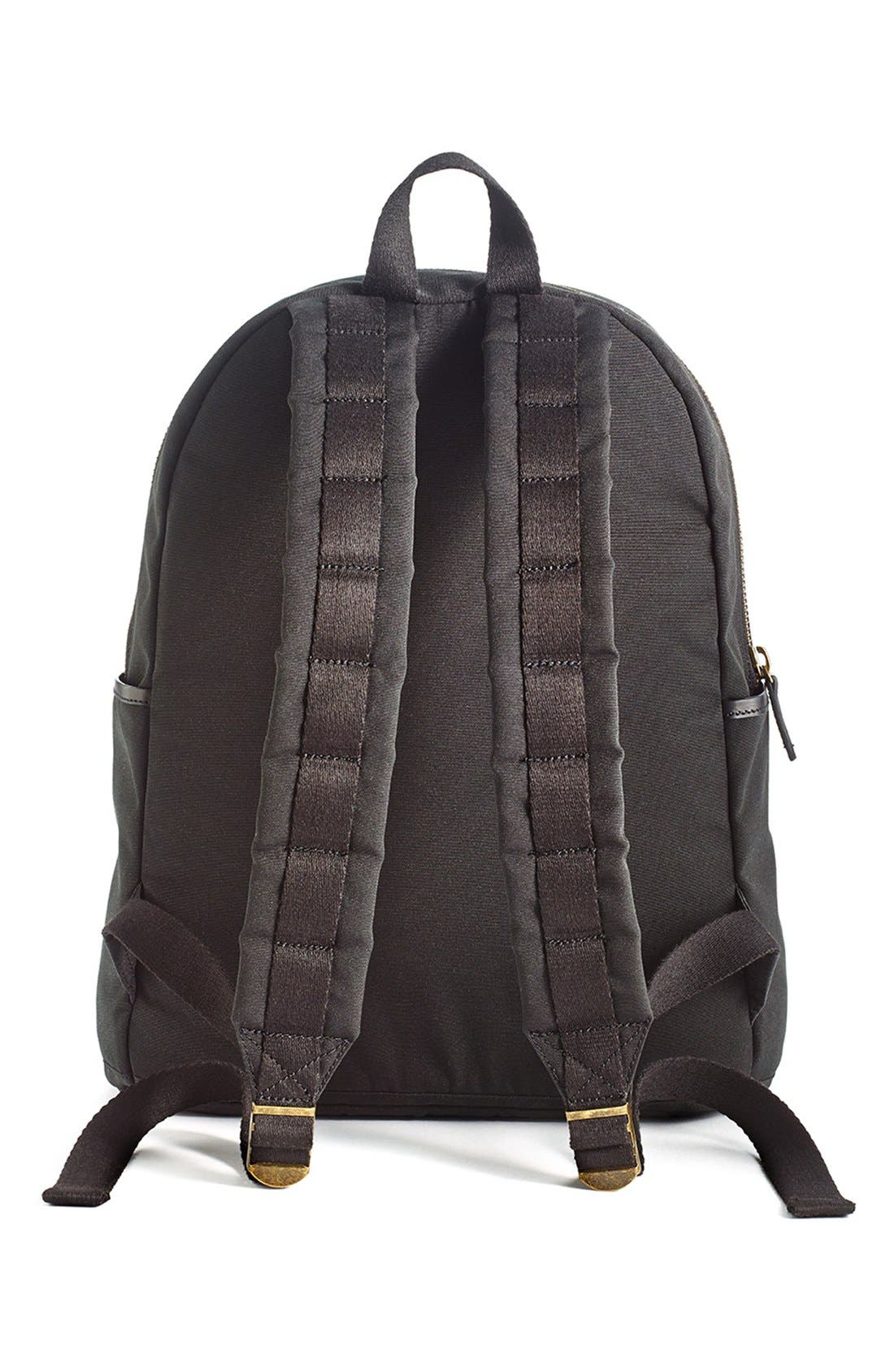 'Union' Water Resistant Backpack with Leather Trim,                             Alternate thumbnail 2, color,                             001