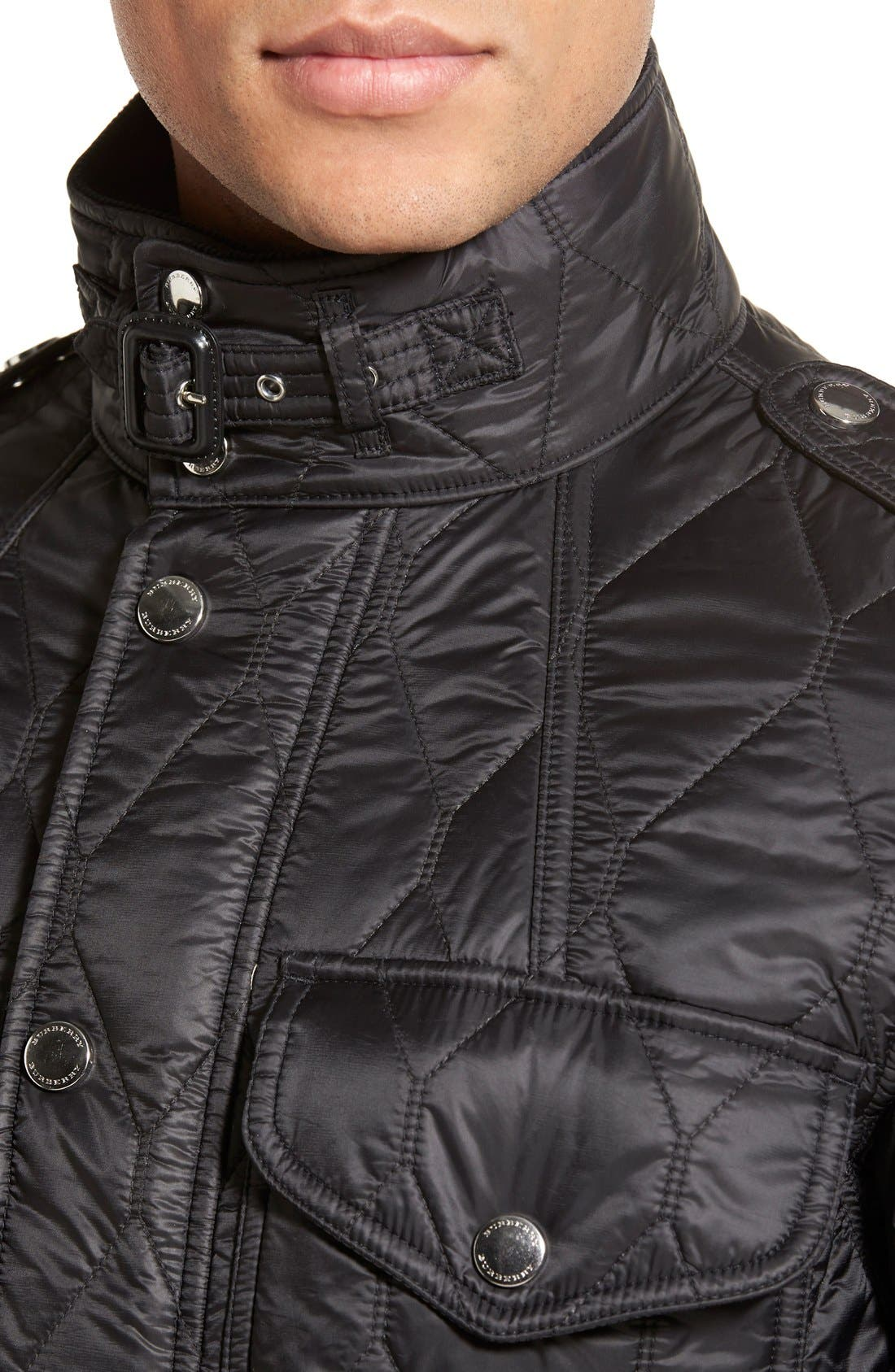 Brit 'Garrington' Quilted Field Jacket,                             Alternate thumbnail 5, color,                             001