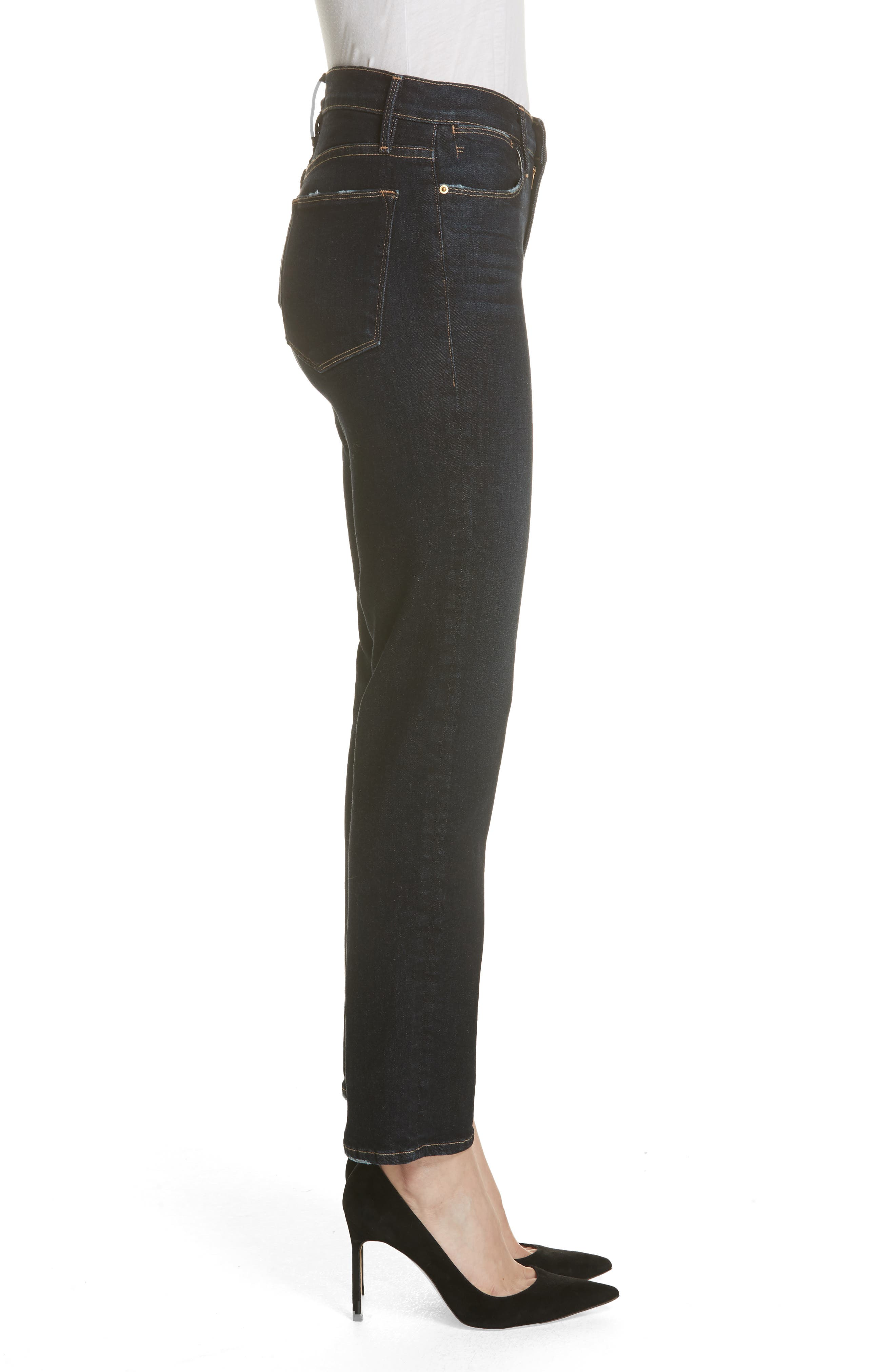 Le High Straight High Waist Crop Jeans,                             Alternate thumbnail 5, color,