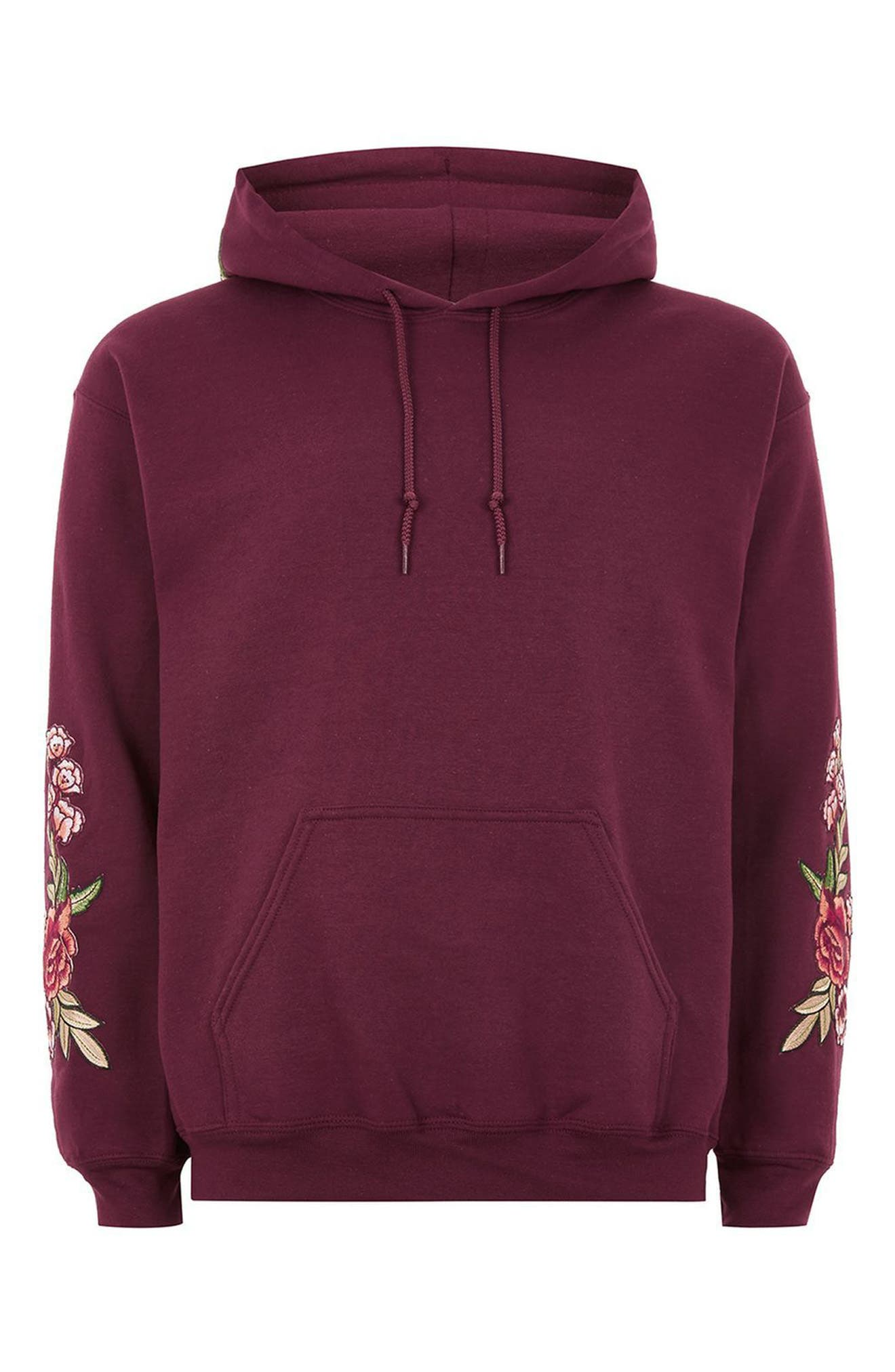 Rose Embroidered Hoodie,                             Alternate thumbnail 4, color,                             930