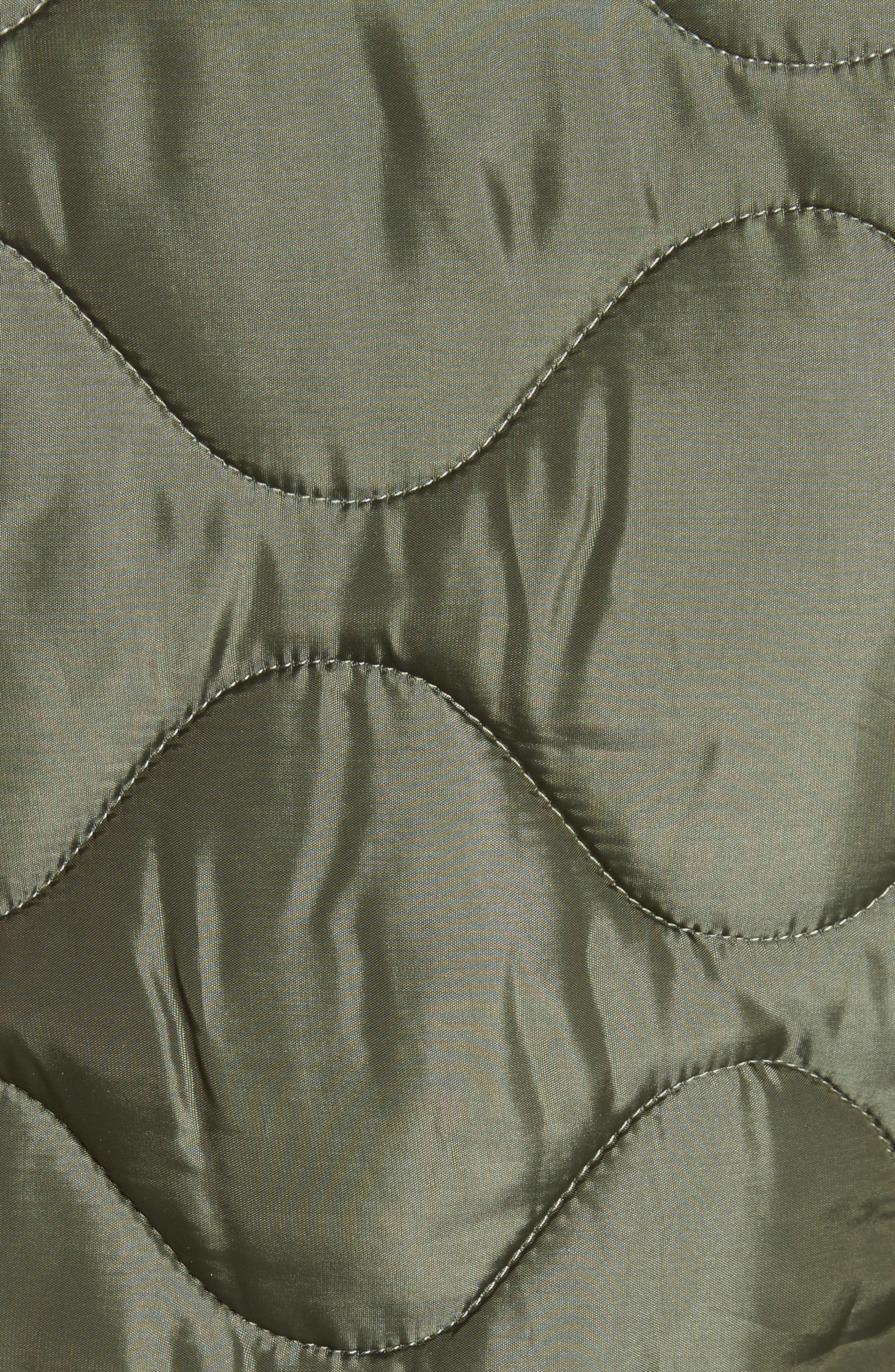Alvy Faux Fur Collar Quilted Coat,                             Alternate thumbnail 6, color,                             310