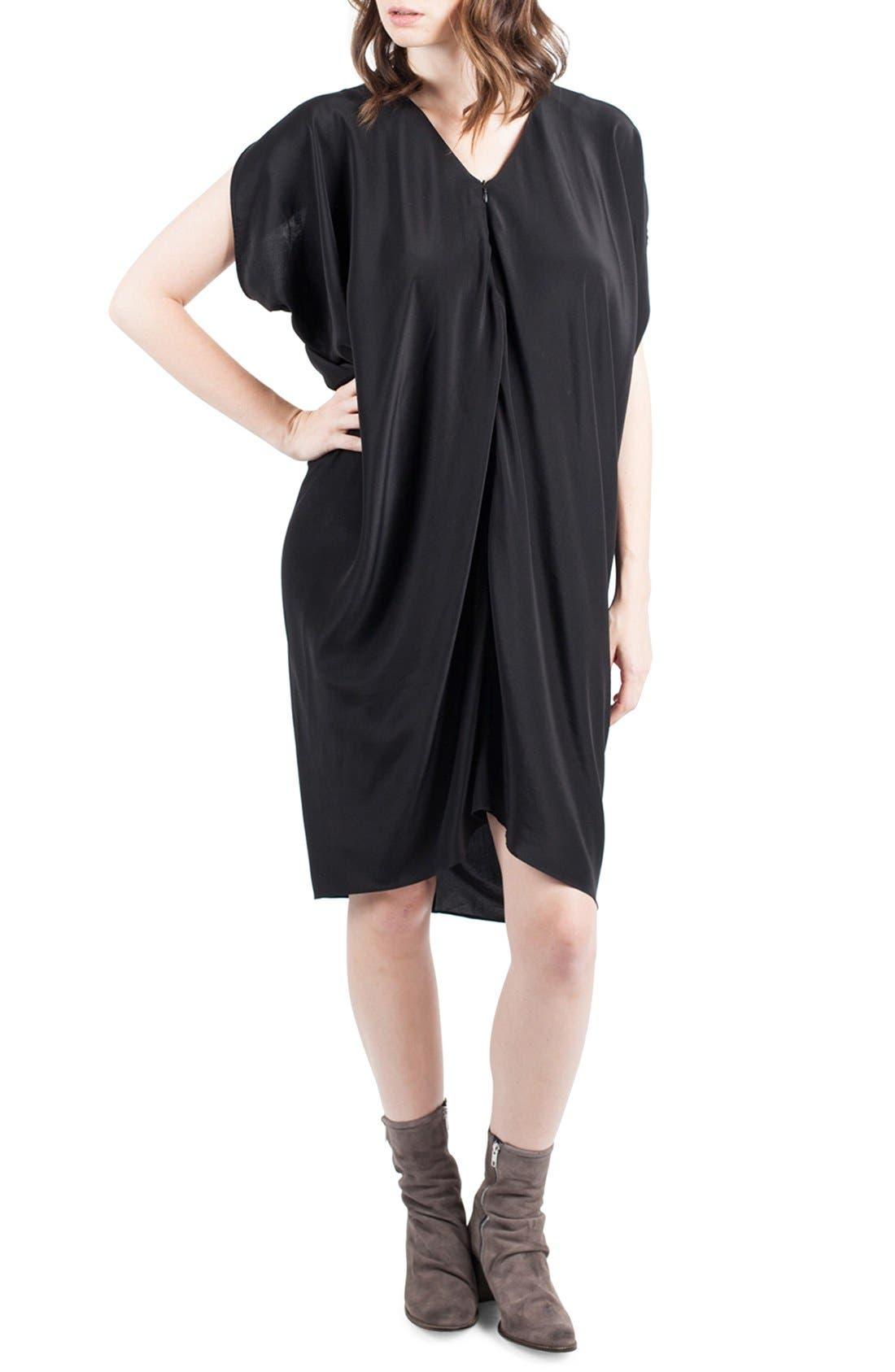 Silk Maternity/Nursing Dress,                         Main,                         color, 001