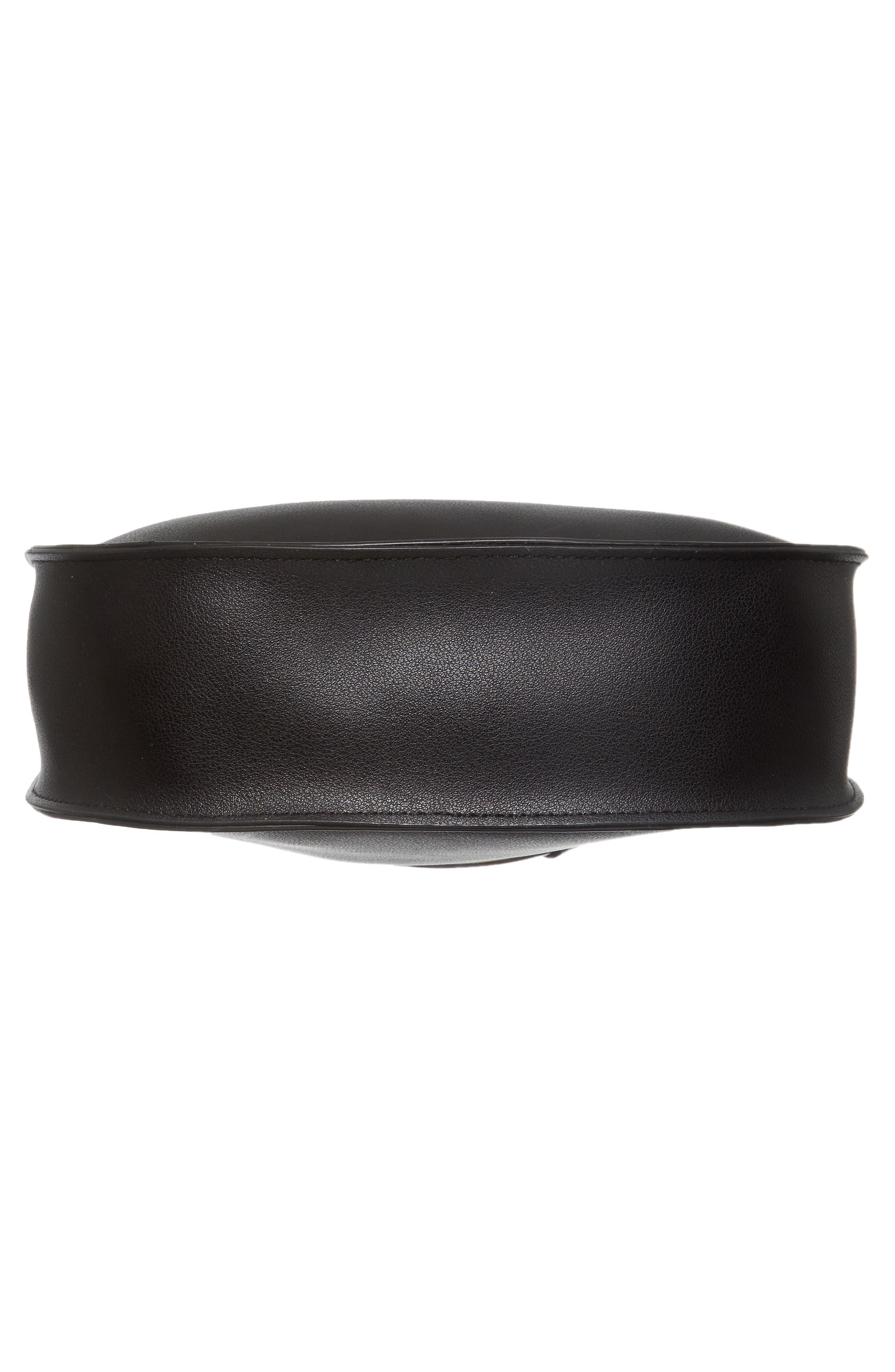 Metal Ring Crossbody Bag,                             Alternate thumbnail 6, color,                             001