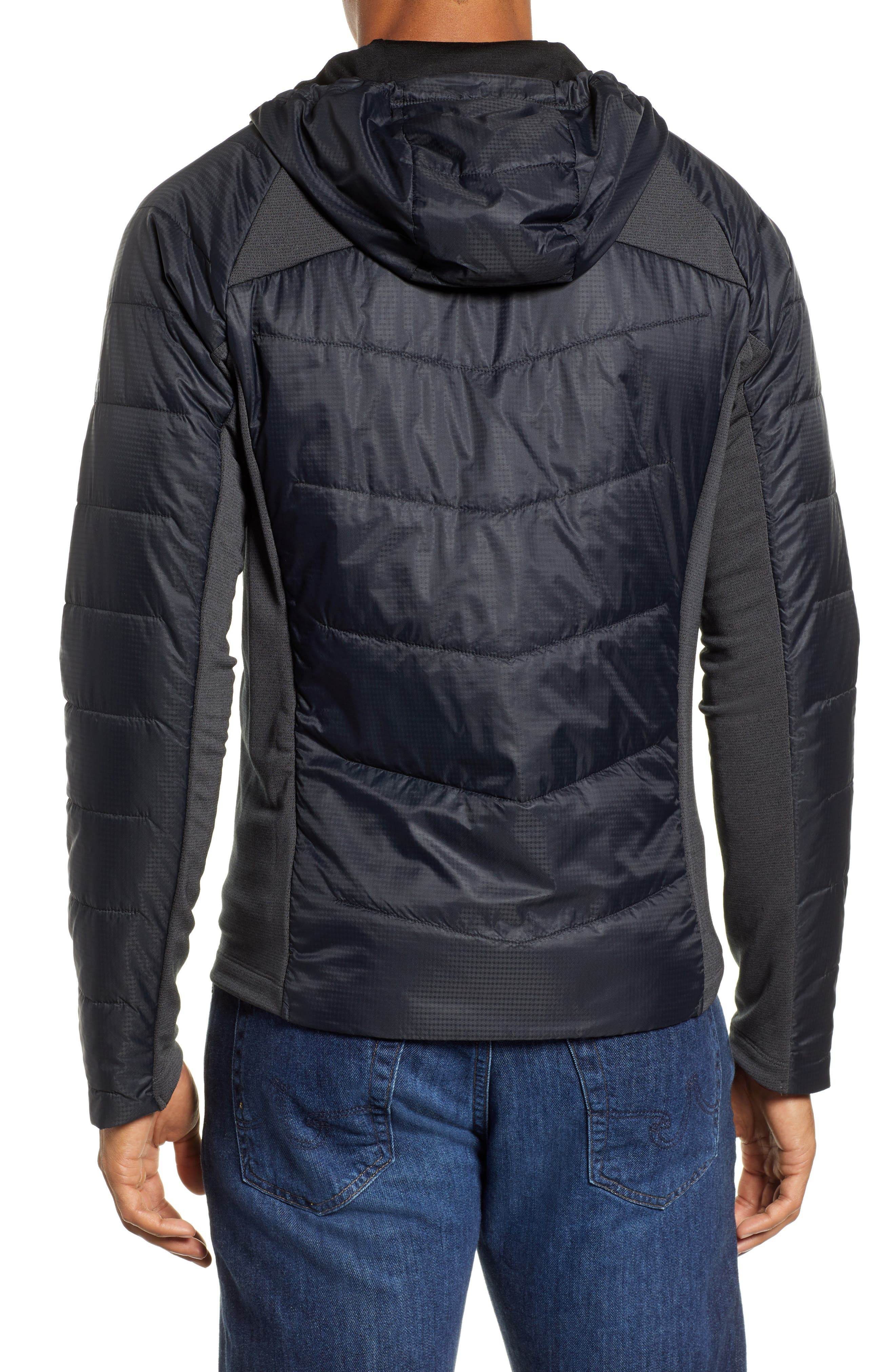 Smartloft 60 Hooded Jacket,                             Alternate thumbnail 2, color,                             BLACK