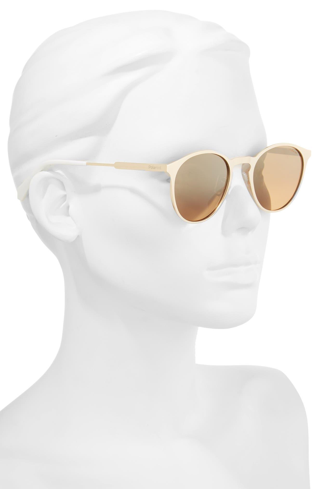 50mm Round Polarized Sunglasses,                             Alternate thumbnail 2, color,                             GOLD