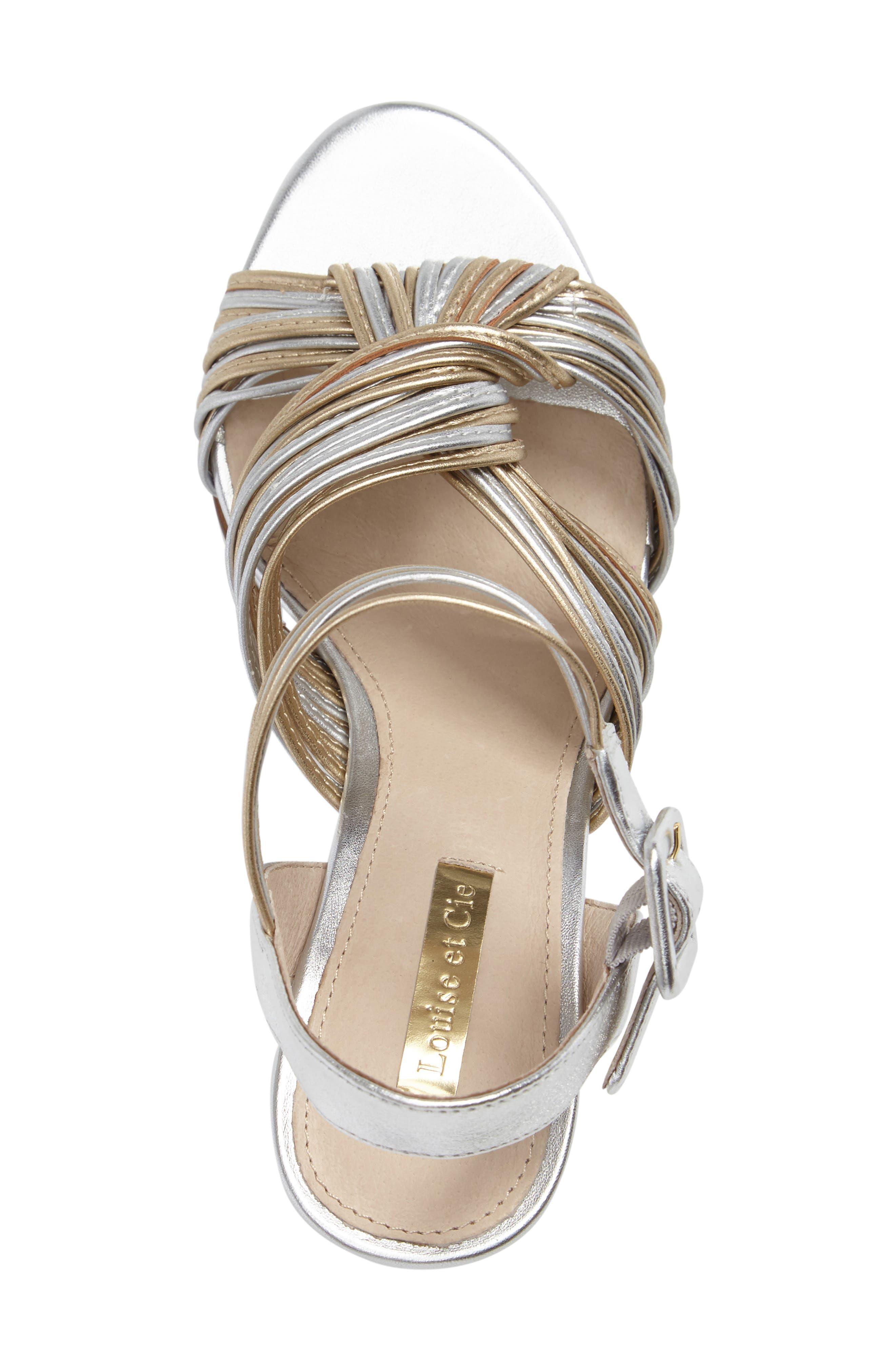 Kamden Knotted Block Heel Sandal,                             Alternate thumbnail 3, color,                             711
