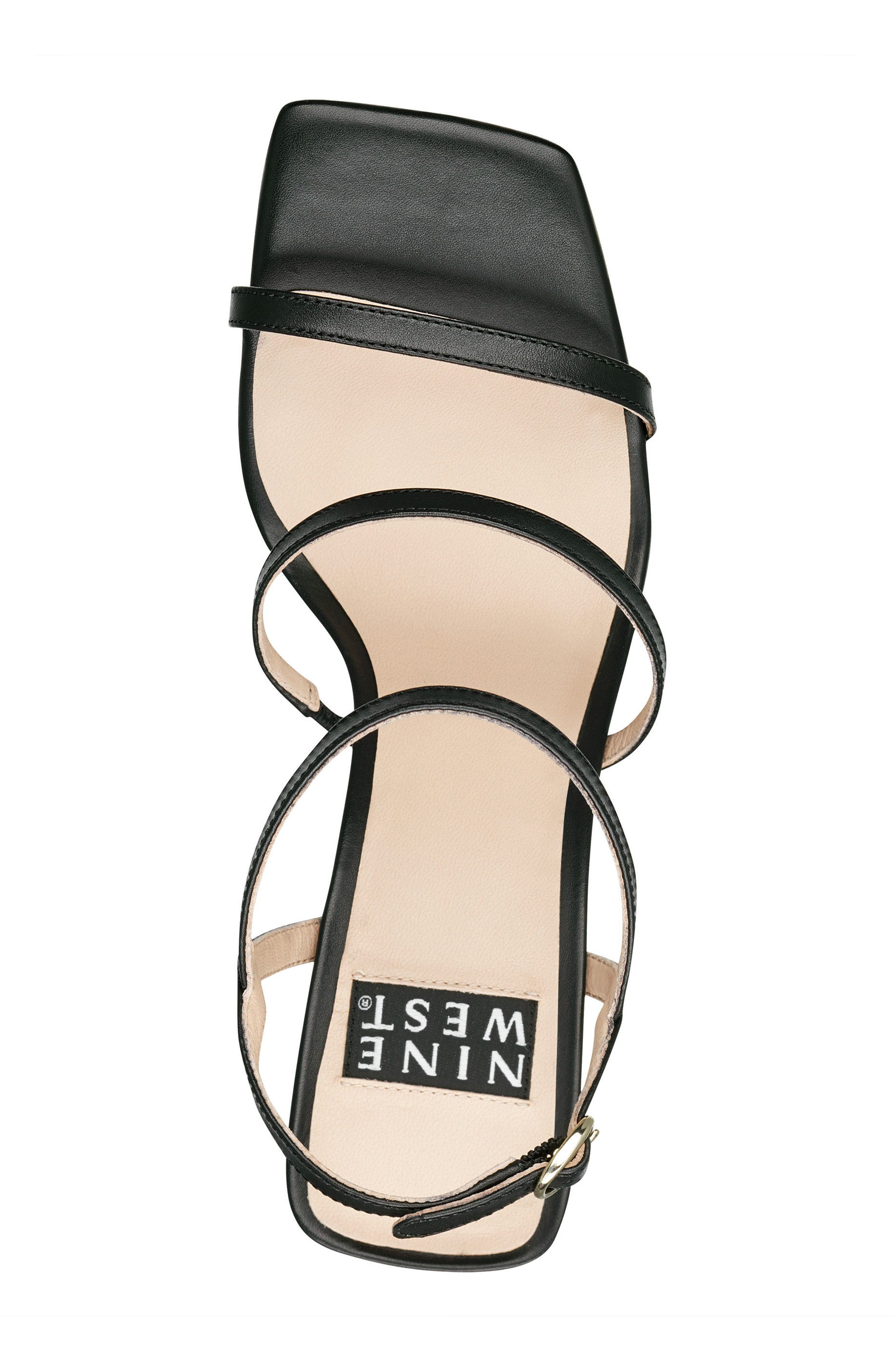 Gabelle - 40th Anniversary Capsule Collection Sandal,                             Alternate thumbnail 5, color,                             BLACK LEATHER