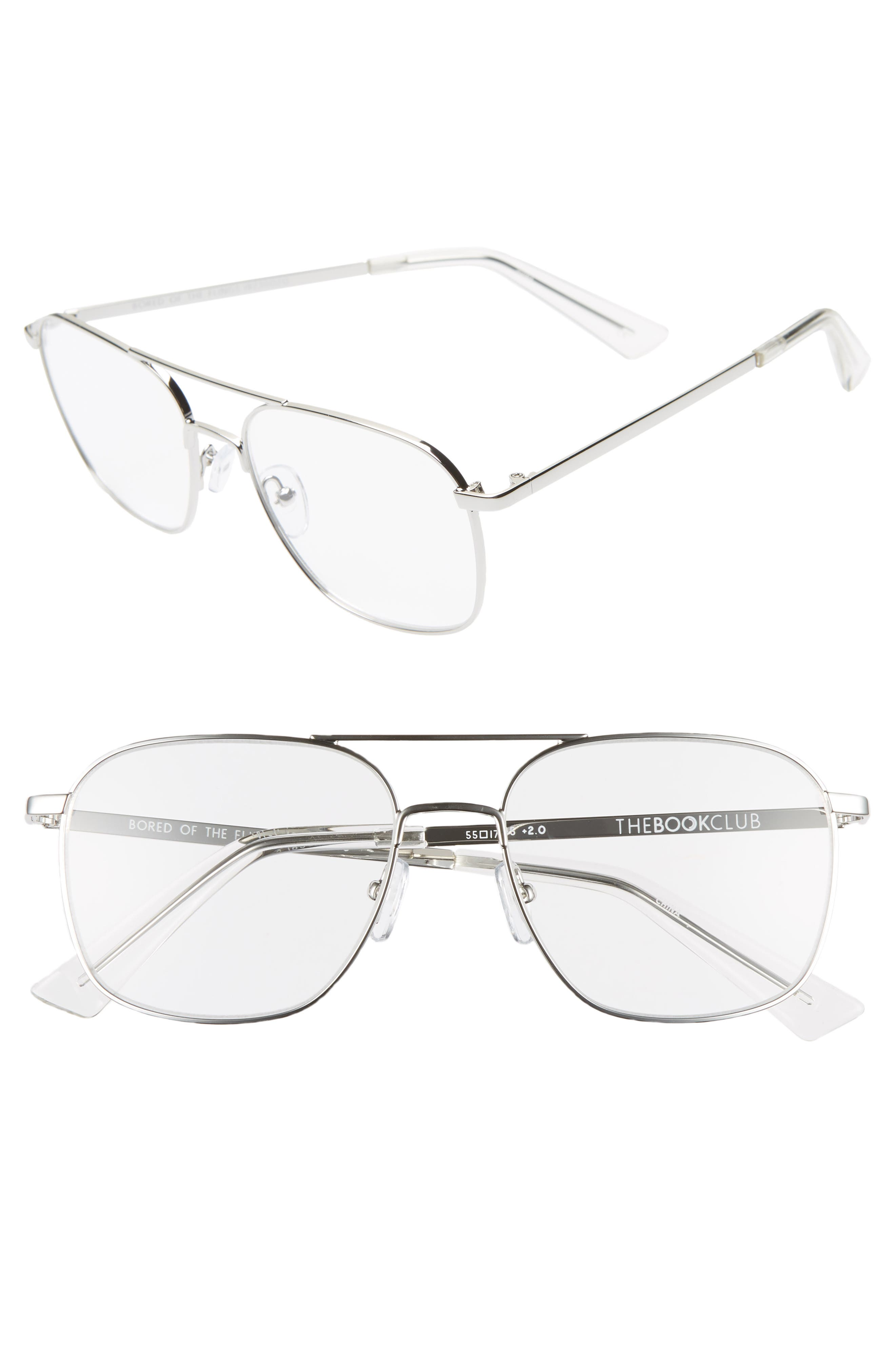 THE BOOKCLUB Bored of the Flings 55mm Reading Glasses, Main, color, 040