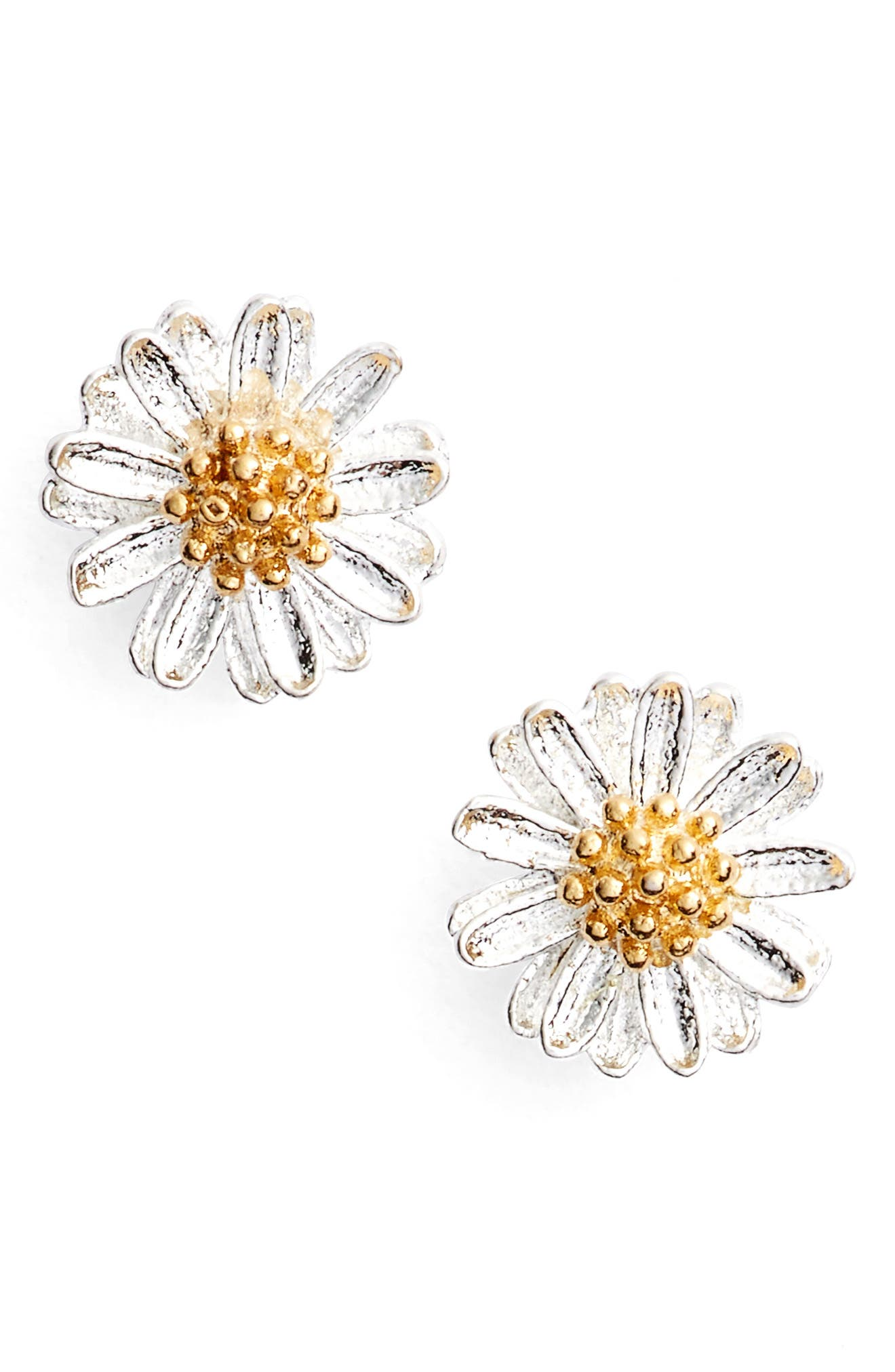 ESTELLA BARTLETT Wildflower Stud Earrings in Silver