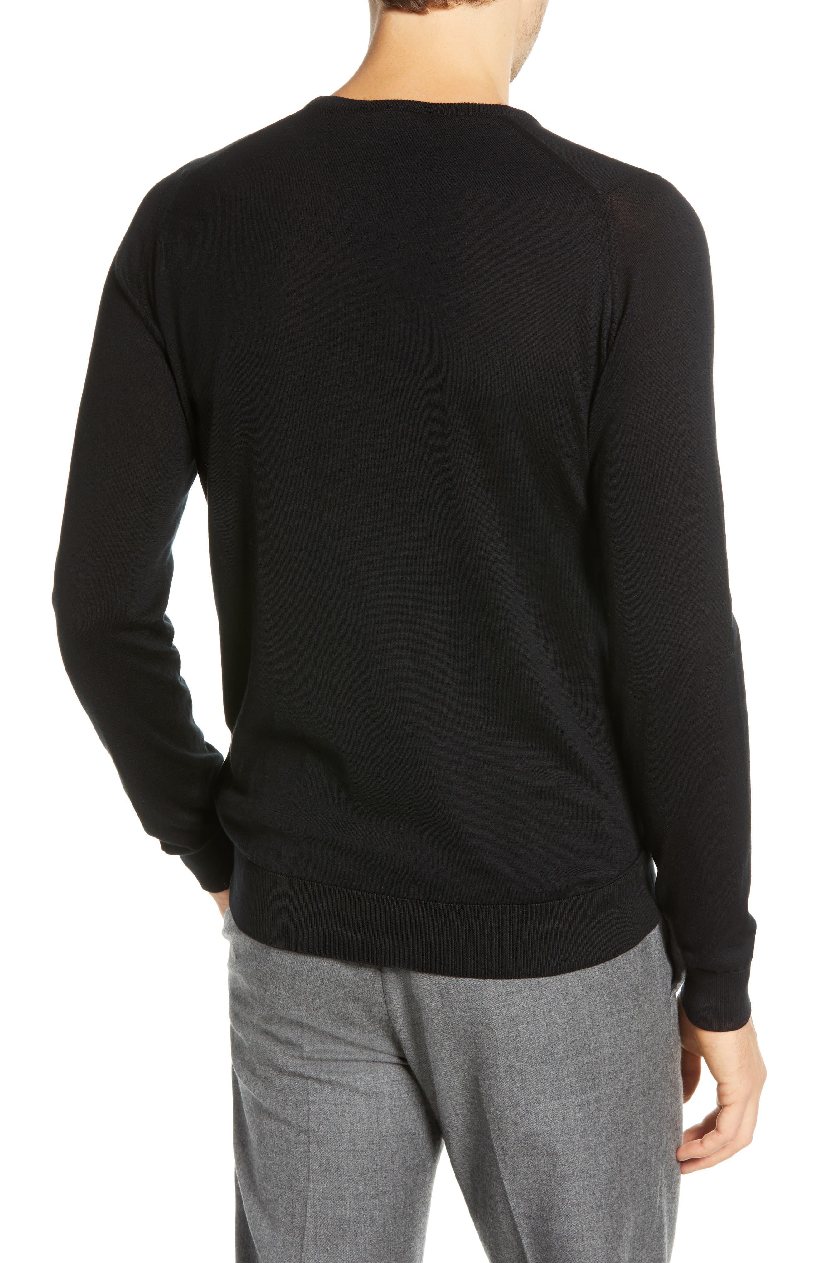 Crewneck Sweater,                             Alternate thumbnail 2, color,                             001
